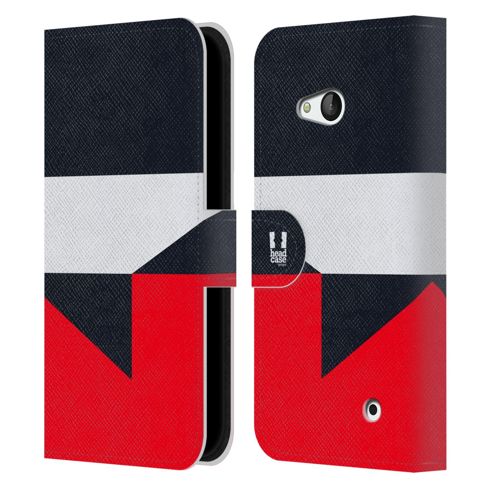 HEAD CASE Flipové pouzdro pro mobil Nokia LUMIA 640 barevné tvary černá a červená gejša