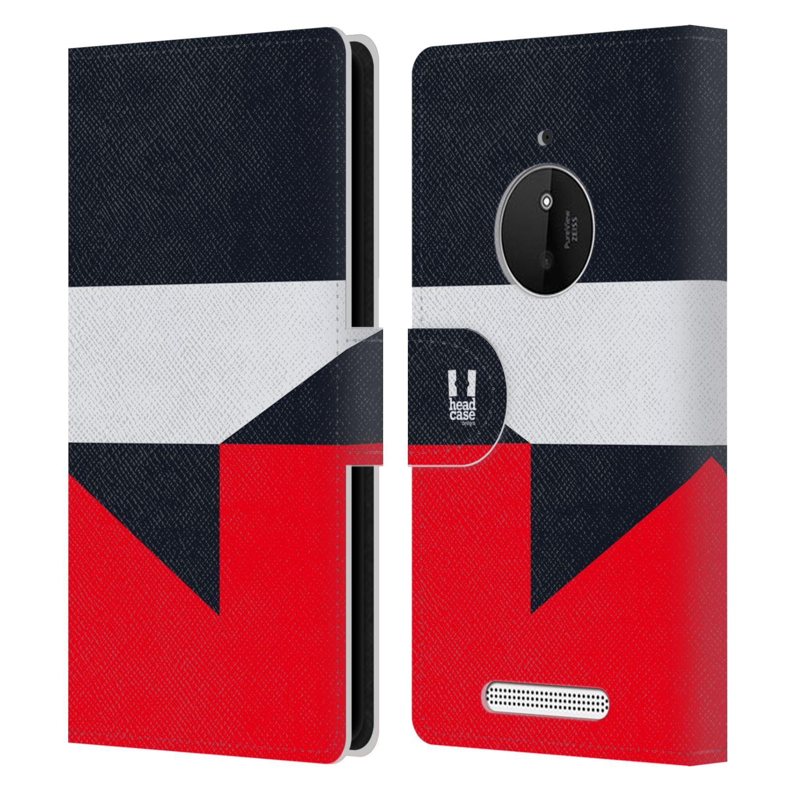 HEAD CASE Flipové pouzdro pro mobil Nokia LUMIA 830 barevné tvary černá a červená gejša