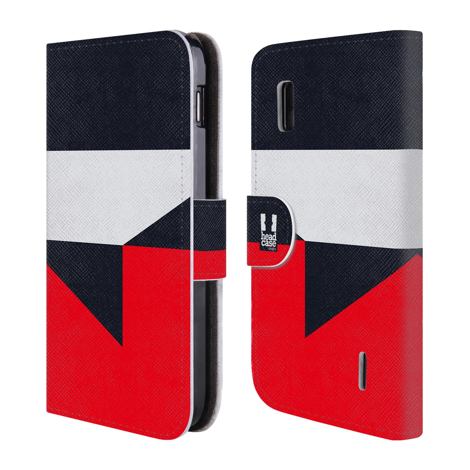 HEAD CASE Flipové pouzdro pro mobil LG NEXUS 4 barevné tvary černá a červená gejša