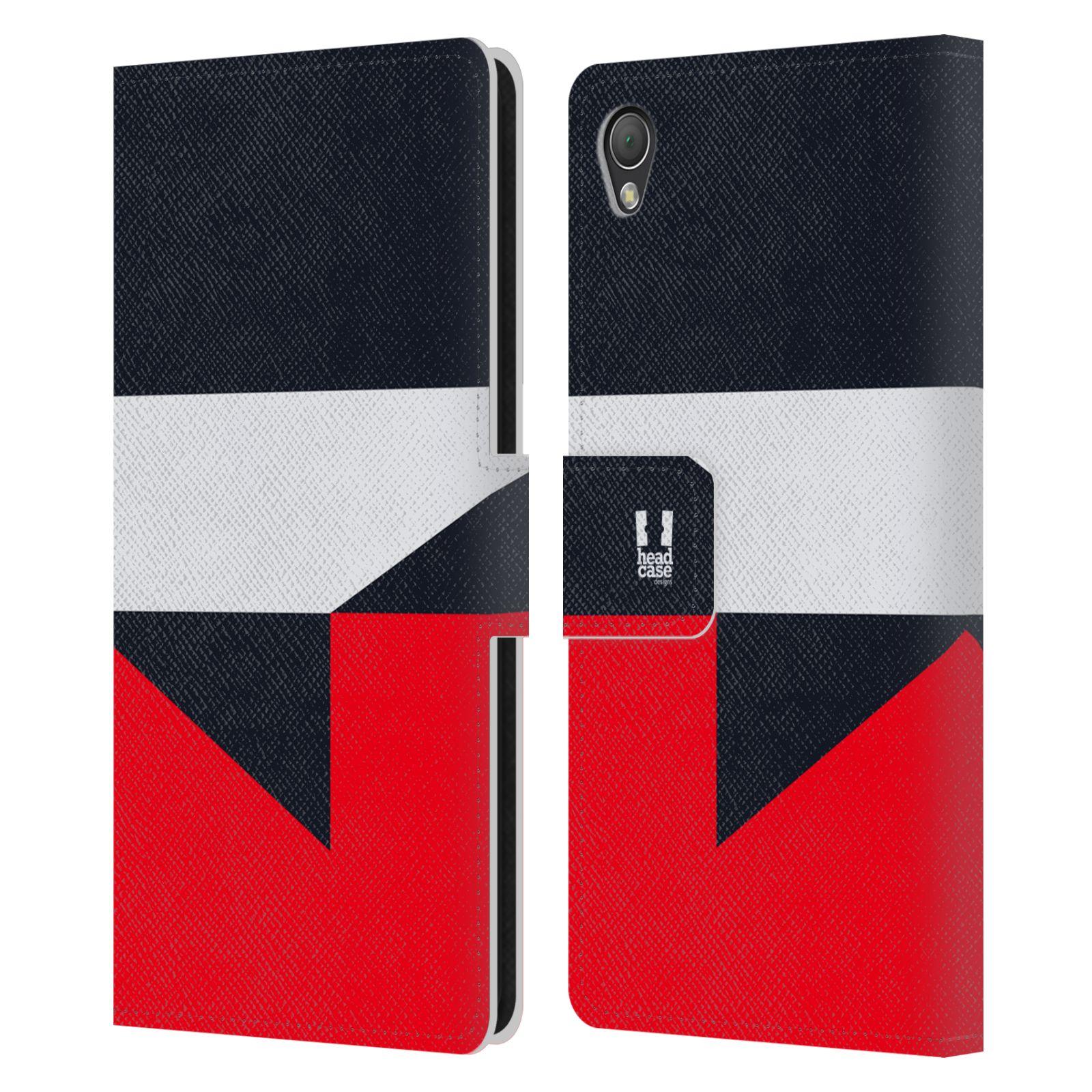 HEAD CASE Flipové pouzdro pro mobil SONY XPERIA Z3 barevné tvary černá a červená gejša