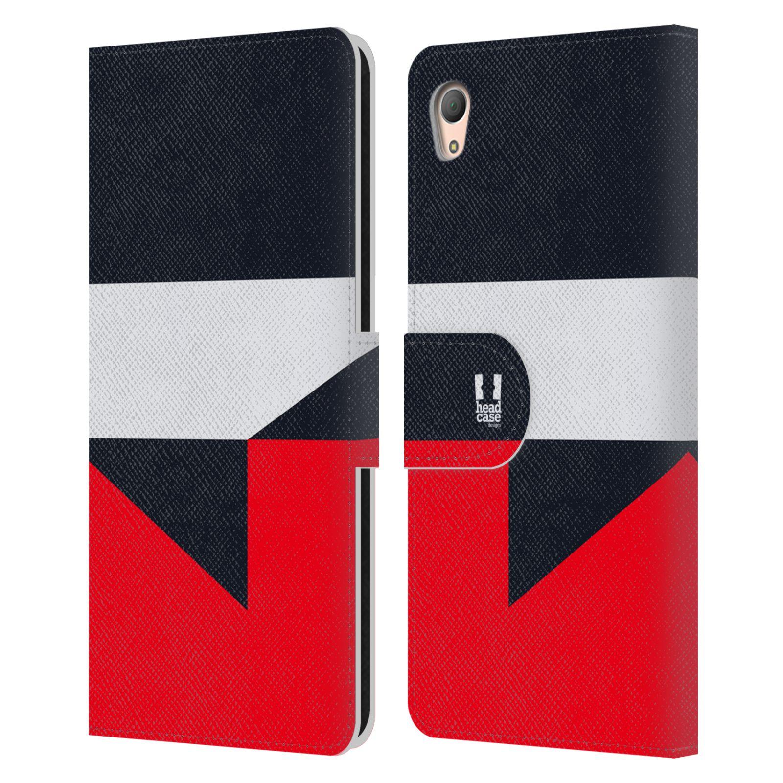 HEAD CASE Flipové pouzdro pro mobil SONY XPERIA Z3+(Z3 PLUS) barevné tvary černá a červená gejša