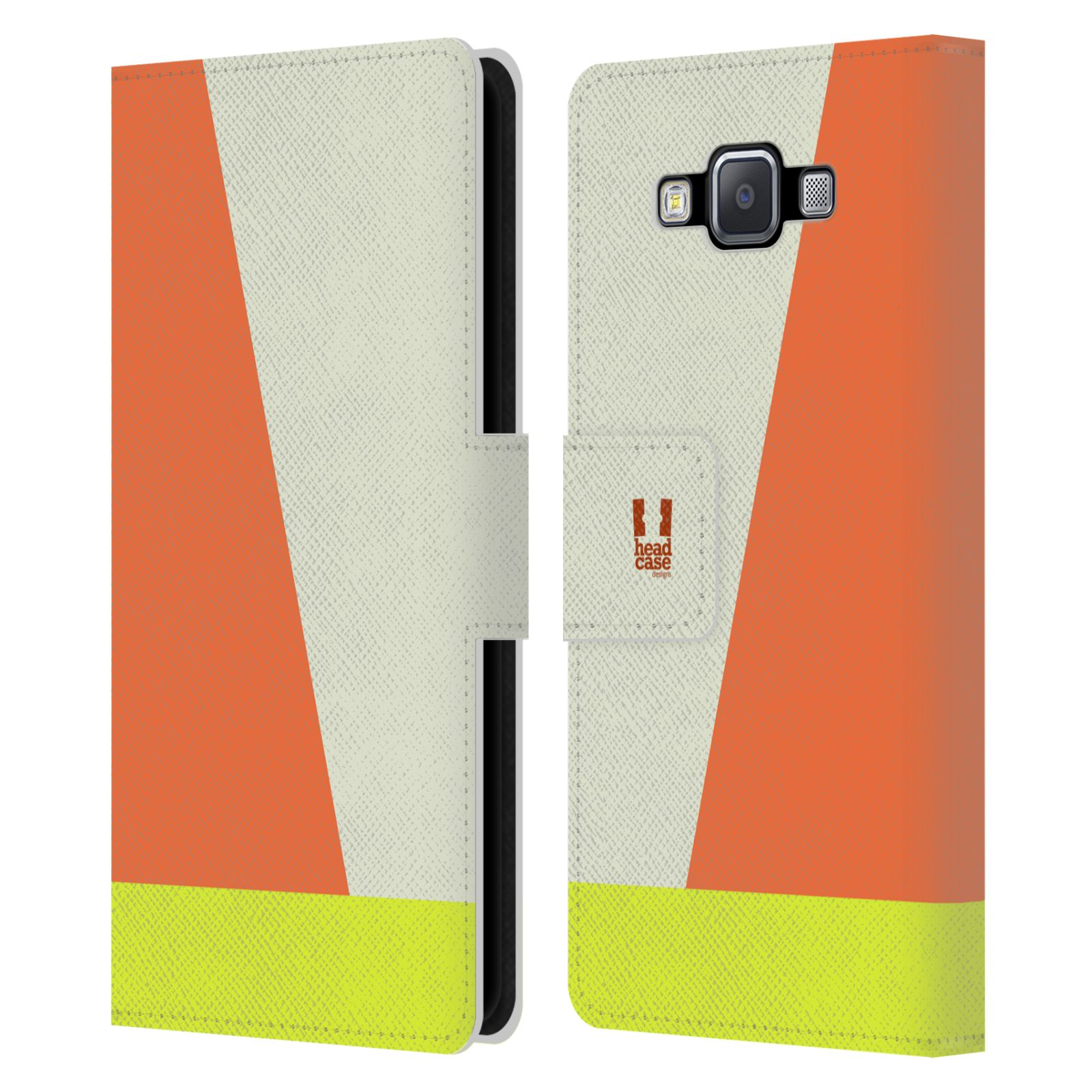HEAD CASE Flipové pouzdro pro mobil Samsung Galaxy A5 barevné tvary slonová kost