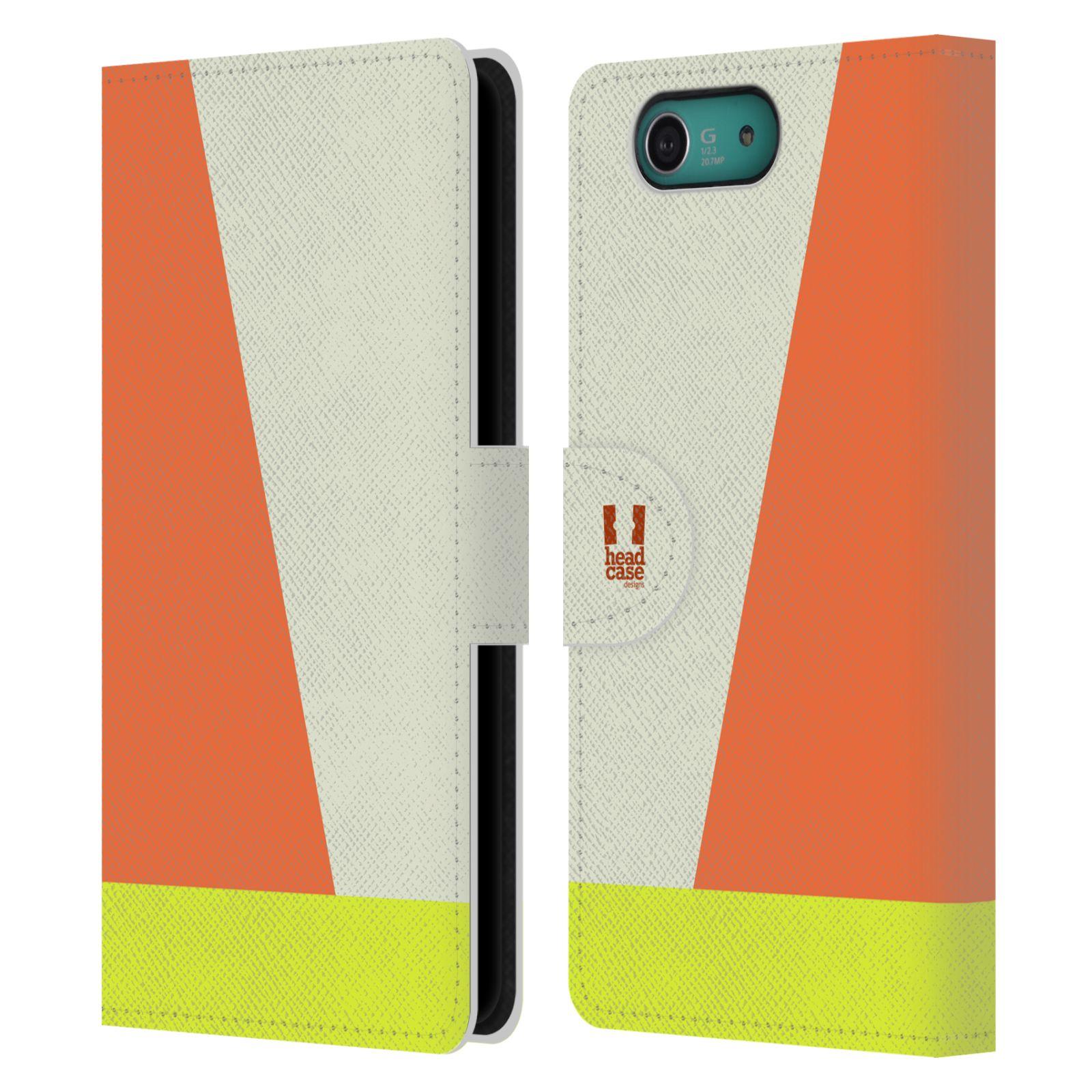 HEAD CASE Flipové pouzdro pro mobil SONY XPERIA Z3 COMPACT barevné tvary slonová kost
