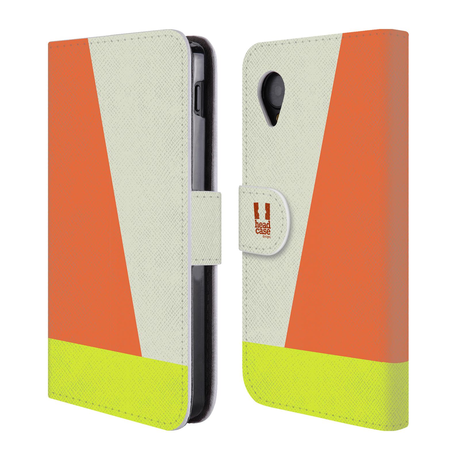 HEAD CASE Flipové pouzdro pro mobil LG GOOGLE NEXUS 5 barevné tvary slonová kost