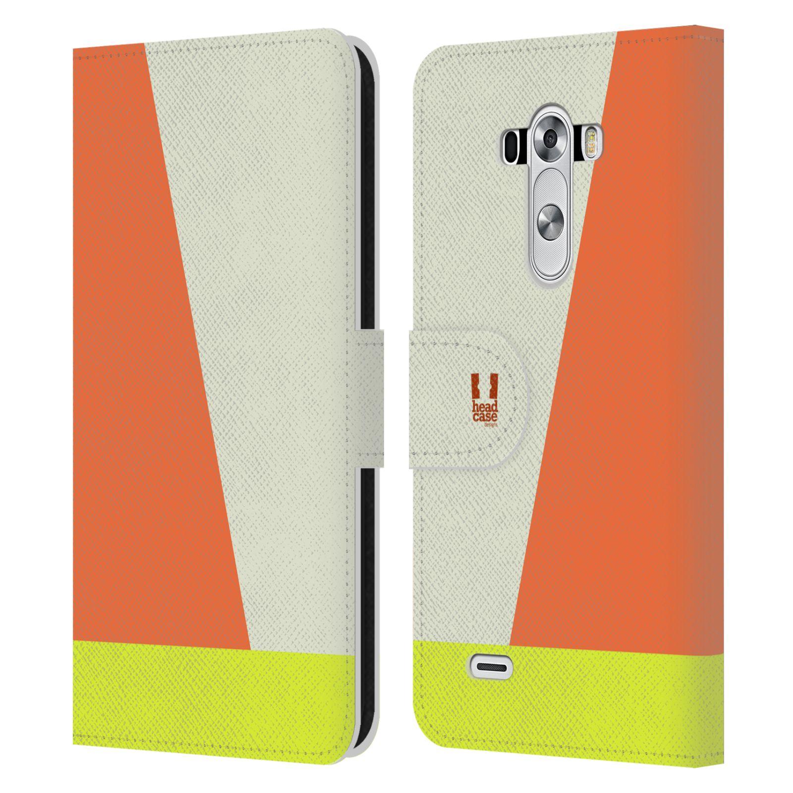 HEAD CASE Flipové pouzdro pro mobil LG G3 barevné tvary slonová kost