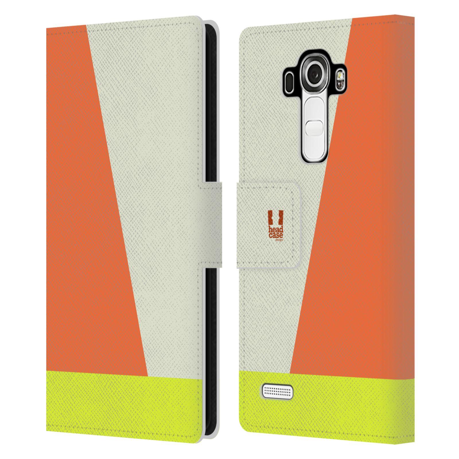 HEAD CASE Flipové pouzdro pro mobil LG G4 barevné tvary slonová kost