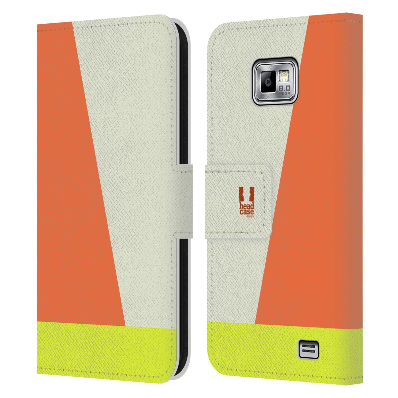 HEAD CASE Flipové pouzdro pro mobil Samsung Galaxy S2 i9100 barevné tvary slonová kost