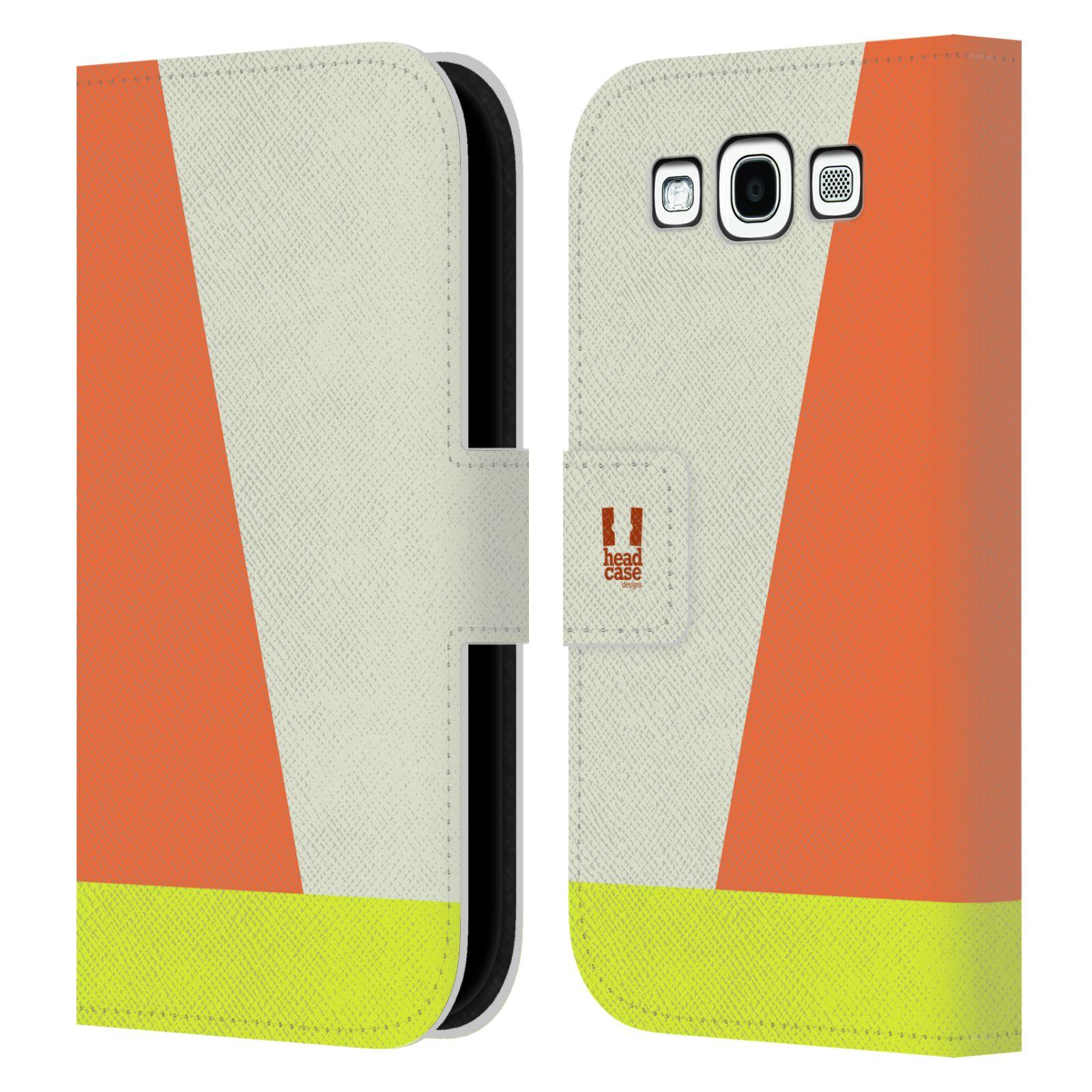 HEAD CASE Flipové pouzdro pro mobil Samsung Galaxy S3 I9300 barevné tvary slonová kost