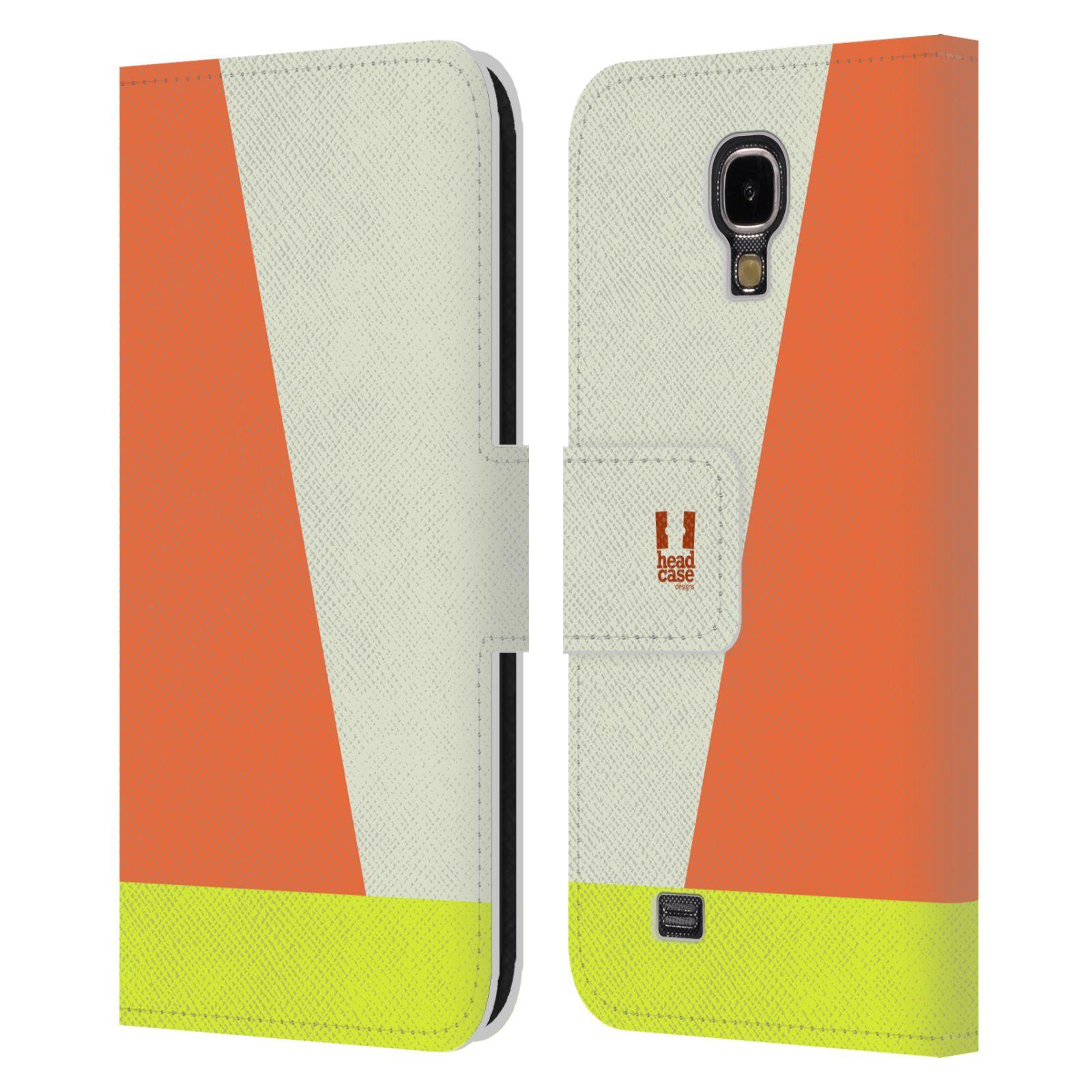 HEAD CASE Flipové pouzdro pro mobil Samsung Galaxy S4 I9500 barevné tvary slonová kost