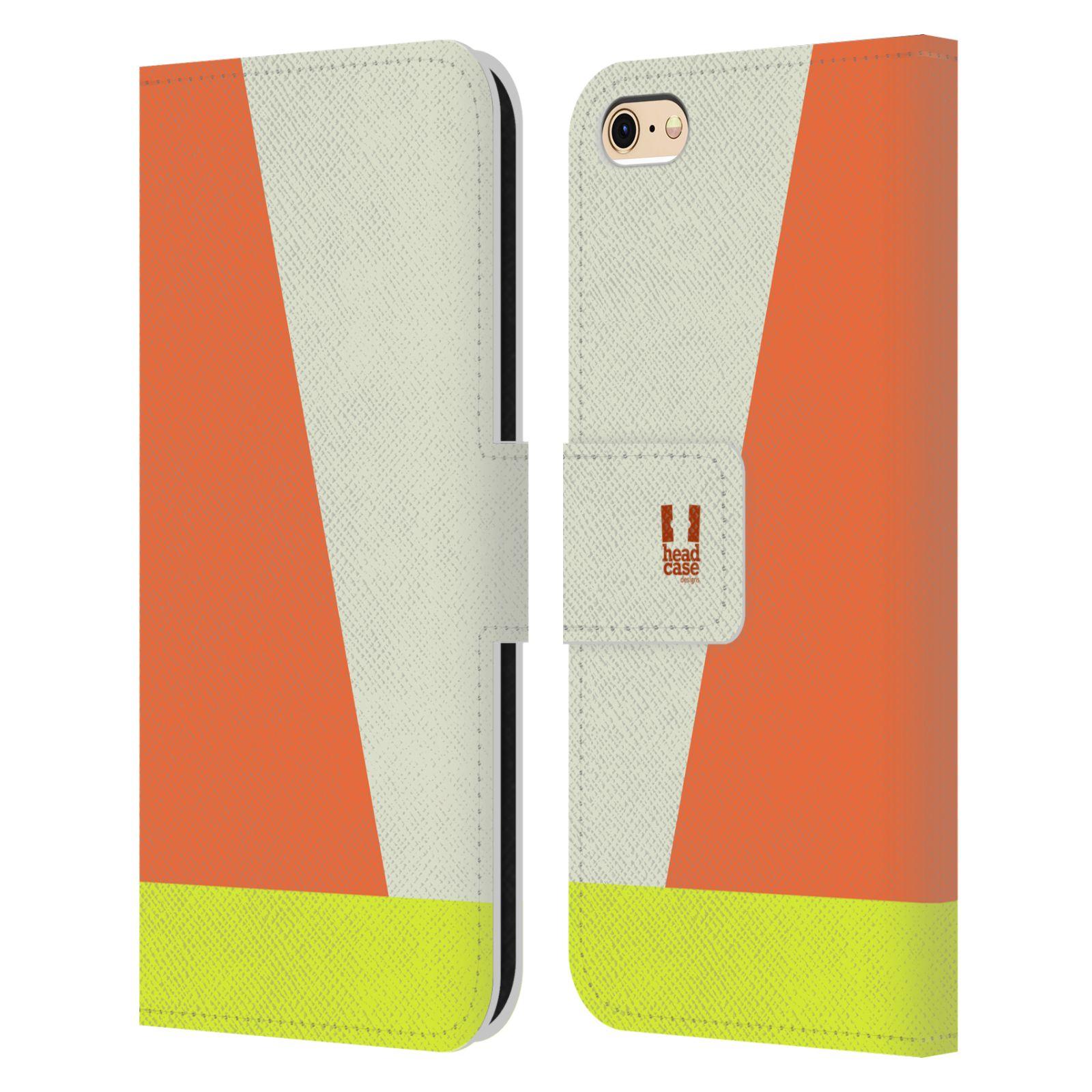 HEAD CASE Flipové pouzdro pro mobil Apple Iphone 6/6s barevné tvary slonová kost