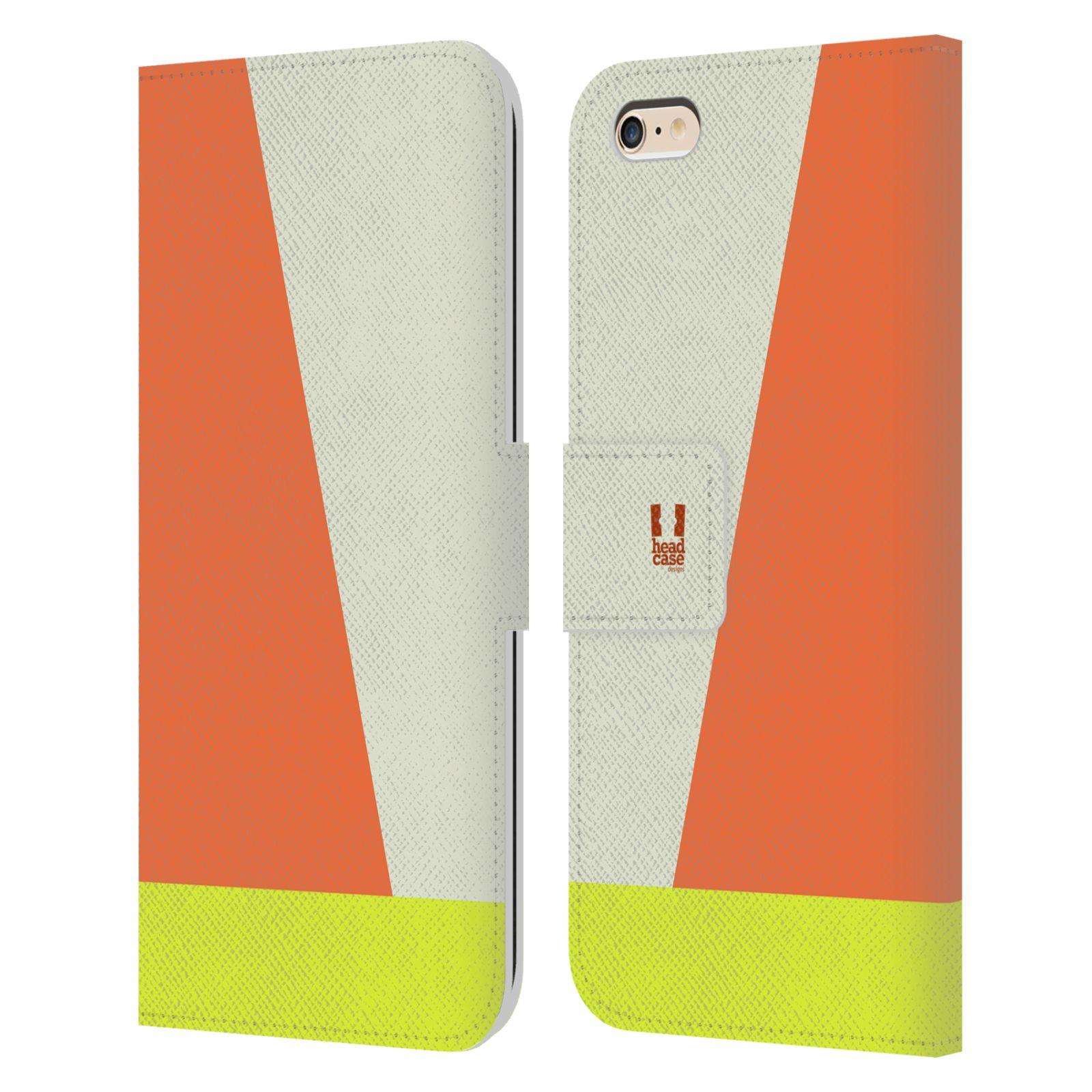 HEAD CASE Flipové pouzdro pro mobil Apple Iphone 6 PLUS/6S PLUS barevné tvary slonová kost