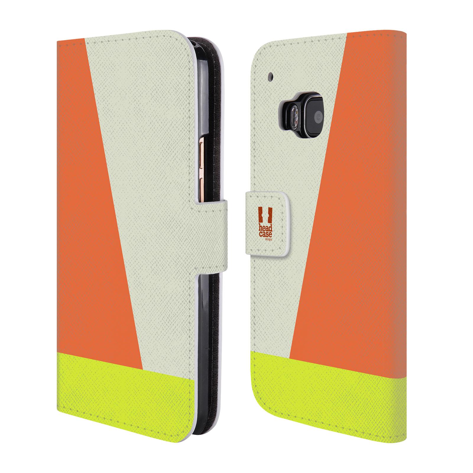 HEAD CASE Flipové pouzdro pro mobil HTC ONE M9 barevné tvary slonová kost