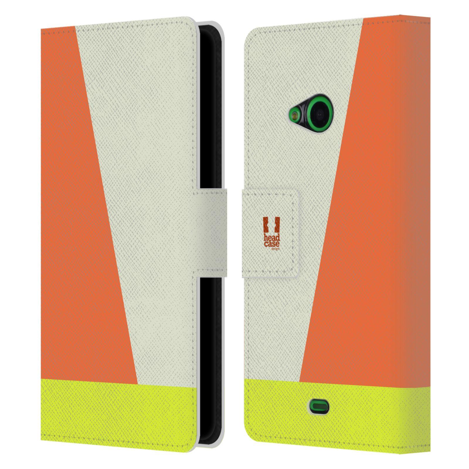 HEAD CASE Flipové pouzdro pro mobil Nokia LUMIA 535 barevné tvary slonová kost
