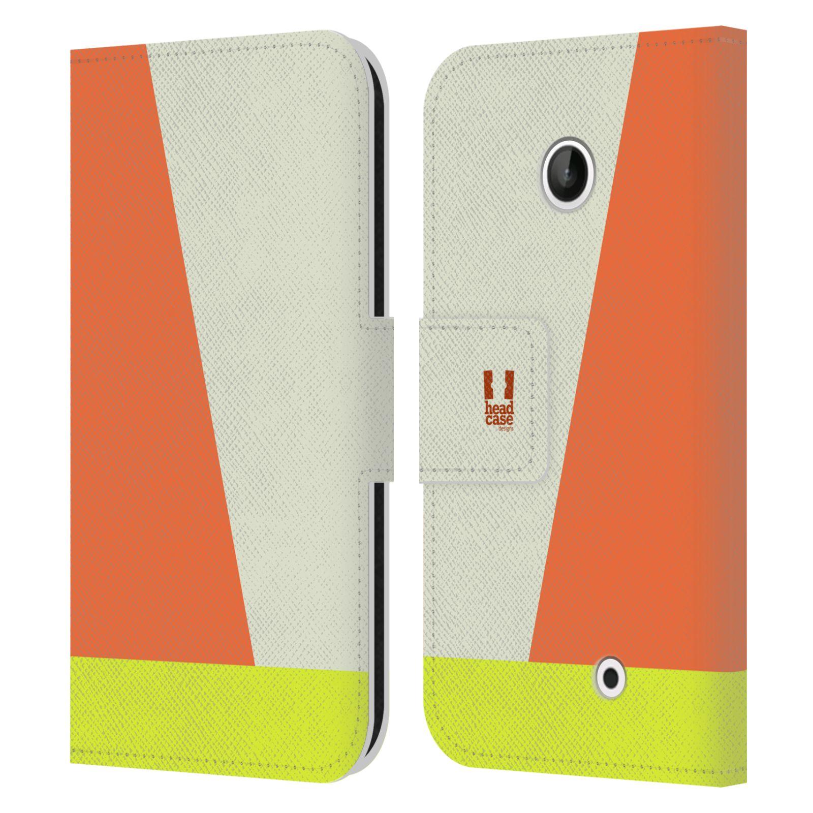 HEAD CASE Flipové pouzdro pro mobil Nokia LUMIA 630/630 DUAL barevné tvary slonová kost