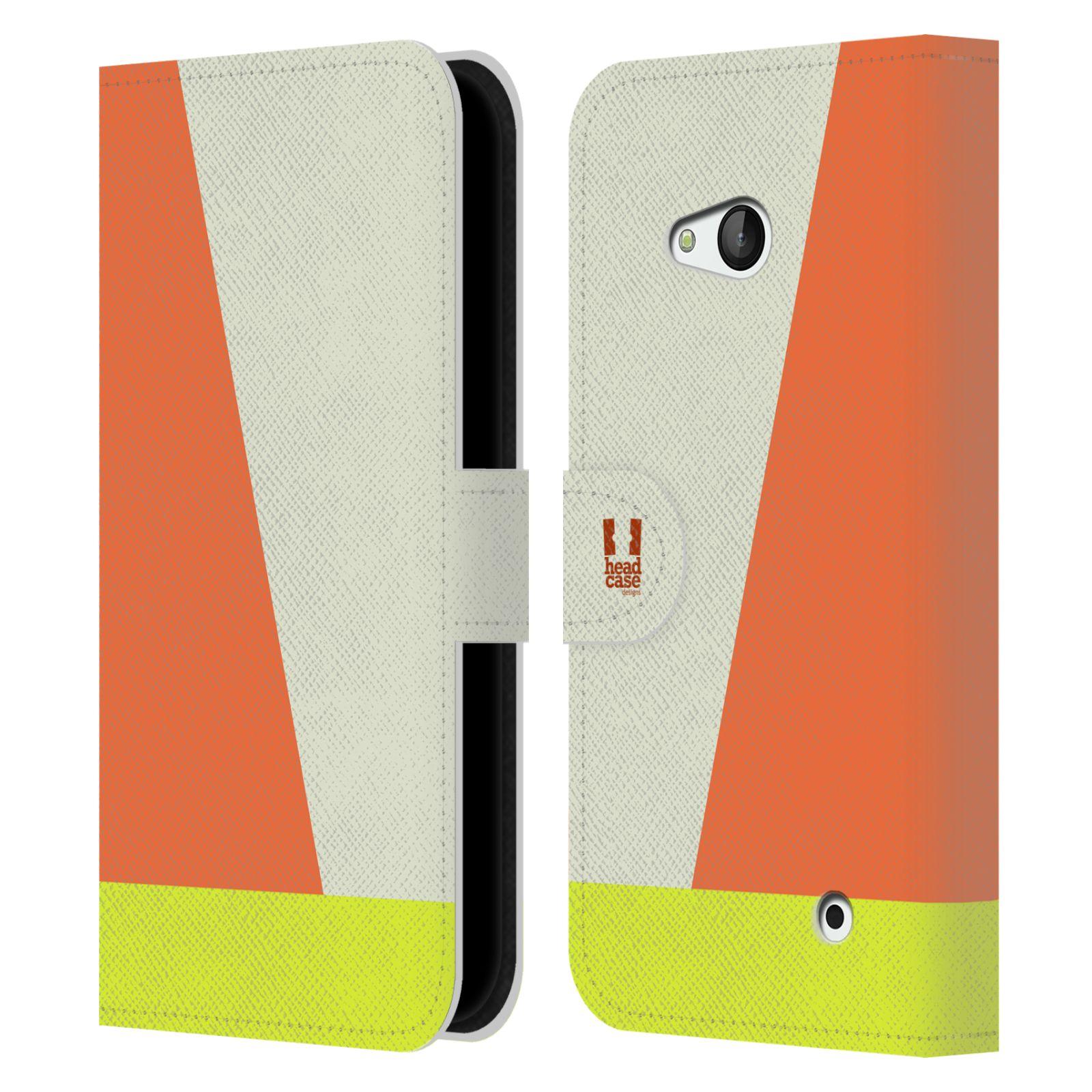 HEAD CASE Flipové pouzdro pro mobil Nokia LUMIA 640 barevné tvary slonová kost
