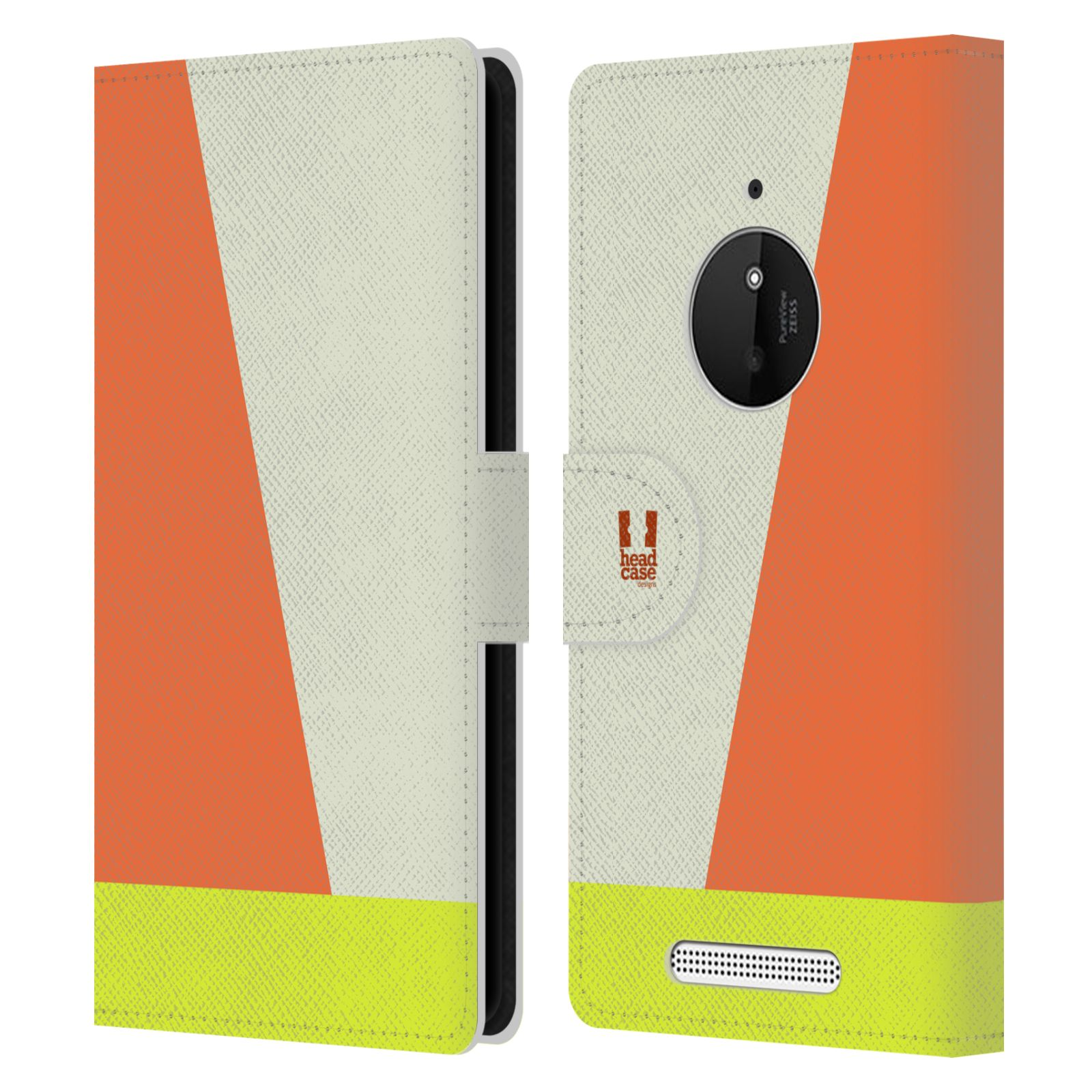 HEAD CASE Flipové pouzdro pro mobil Nokia LUMIA 830 barevné tvary slonová kost