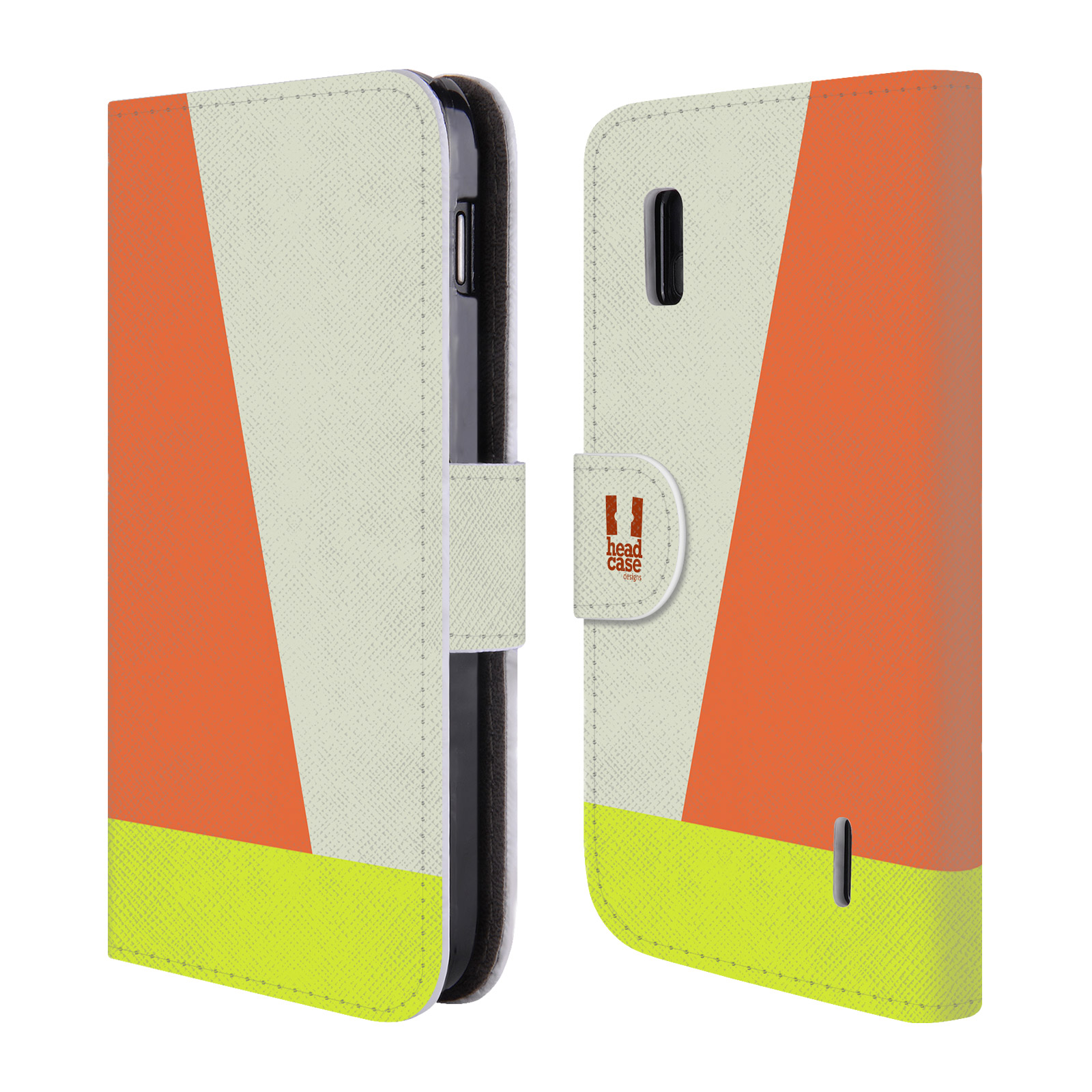 HEAD CASE Flipové pouzdro pro mobil LG NEXUS 4 barevné tvary slonová kost