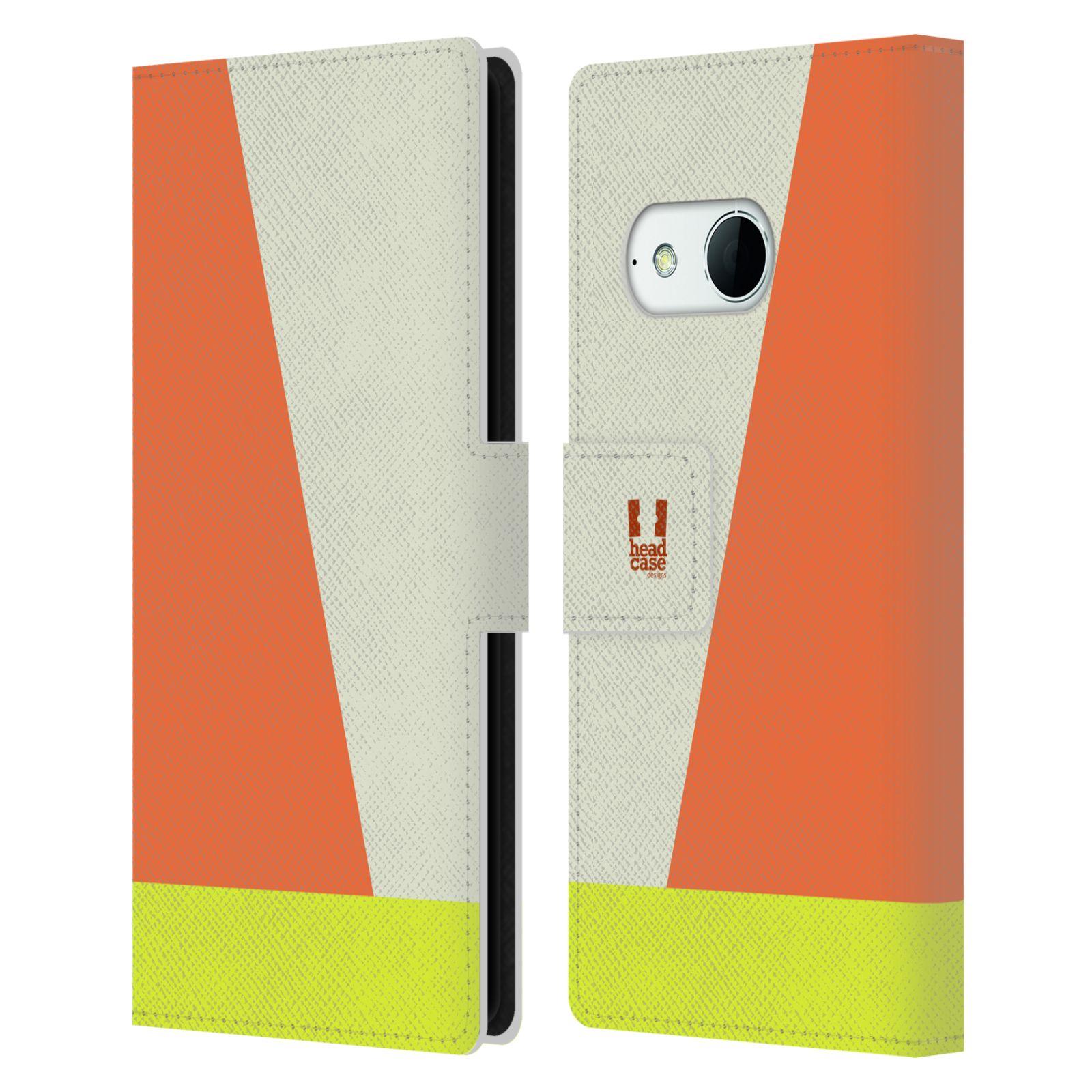 HEAD CASE Flipové pouzdro pro mobil HTC ONE MINI 2 barevné tvary slonová kost