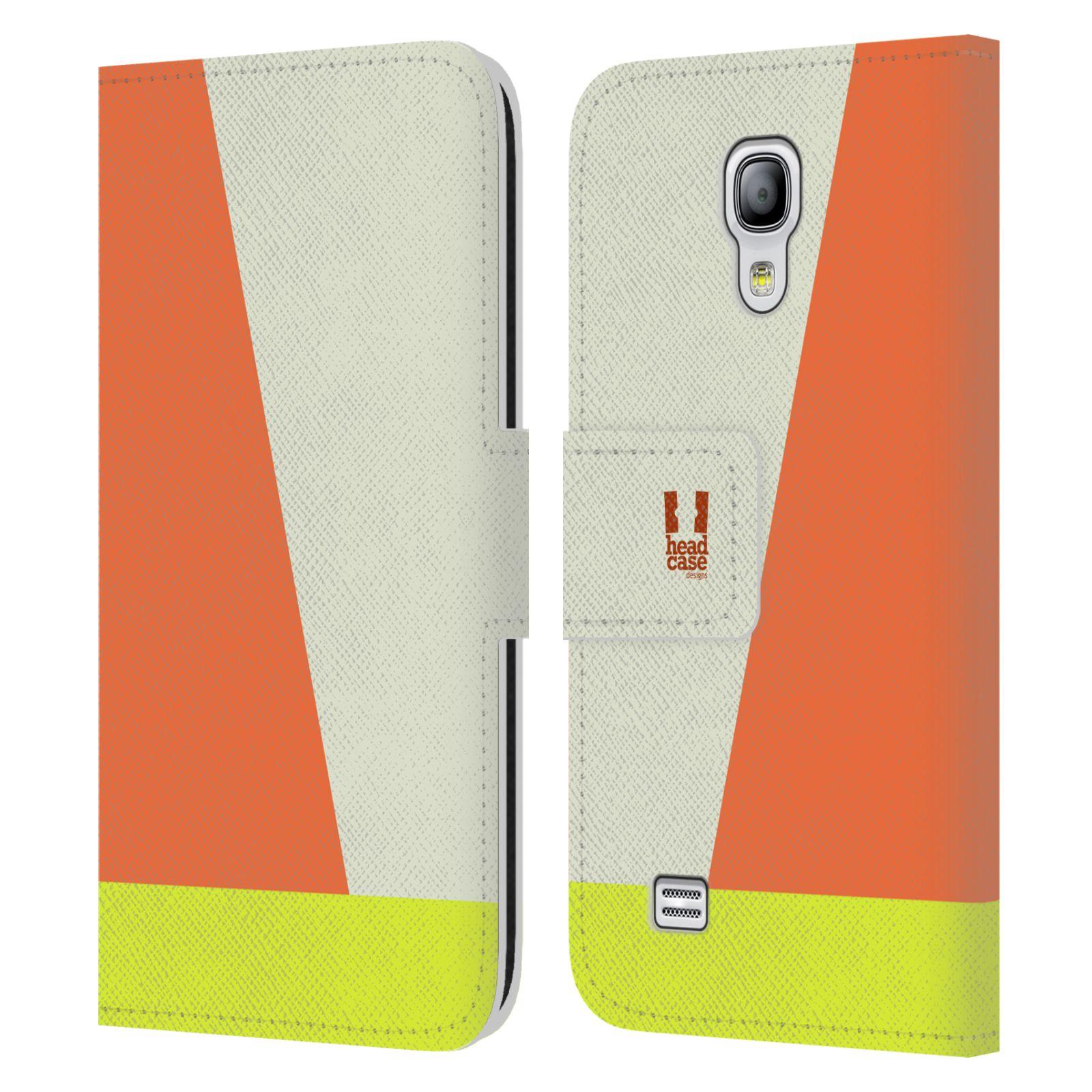 HEAD CASE Flipové pouzdro pro mobil Samsung Galaxy S4 MINI barevné tvary slonová kost