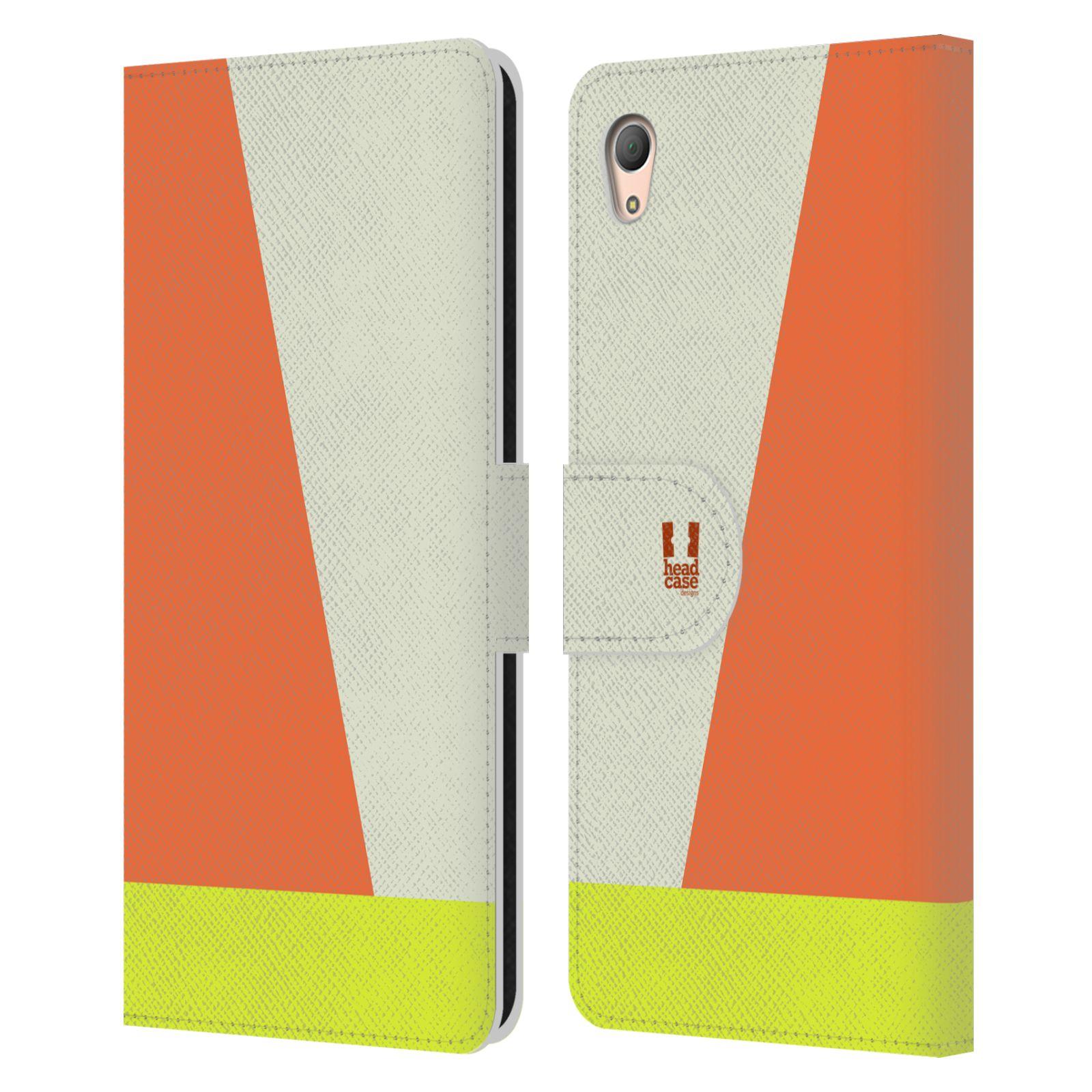 HEAD CASE Flipové pouzdro pro mobil SONY XPERIA Z3+(Z3 PLUS) barevné tvary slonová kost