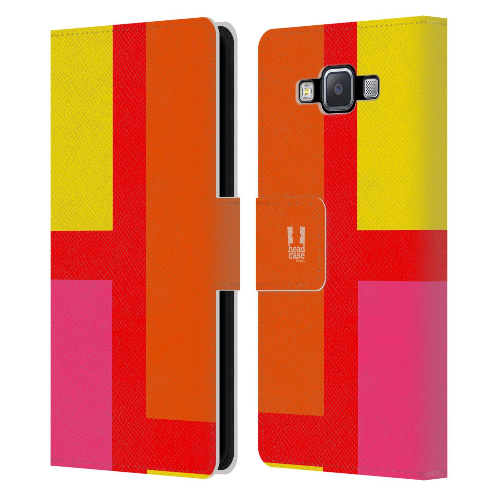 HEAD CASE Flipové pouzdro pro mobil Samsung Galaxy A5 barevné tvary oranžová ulice