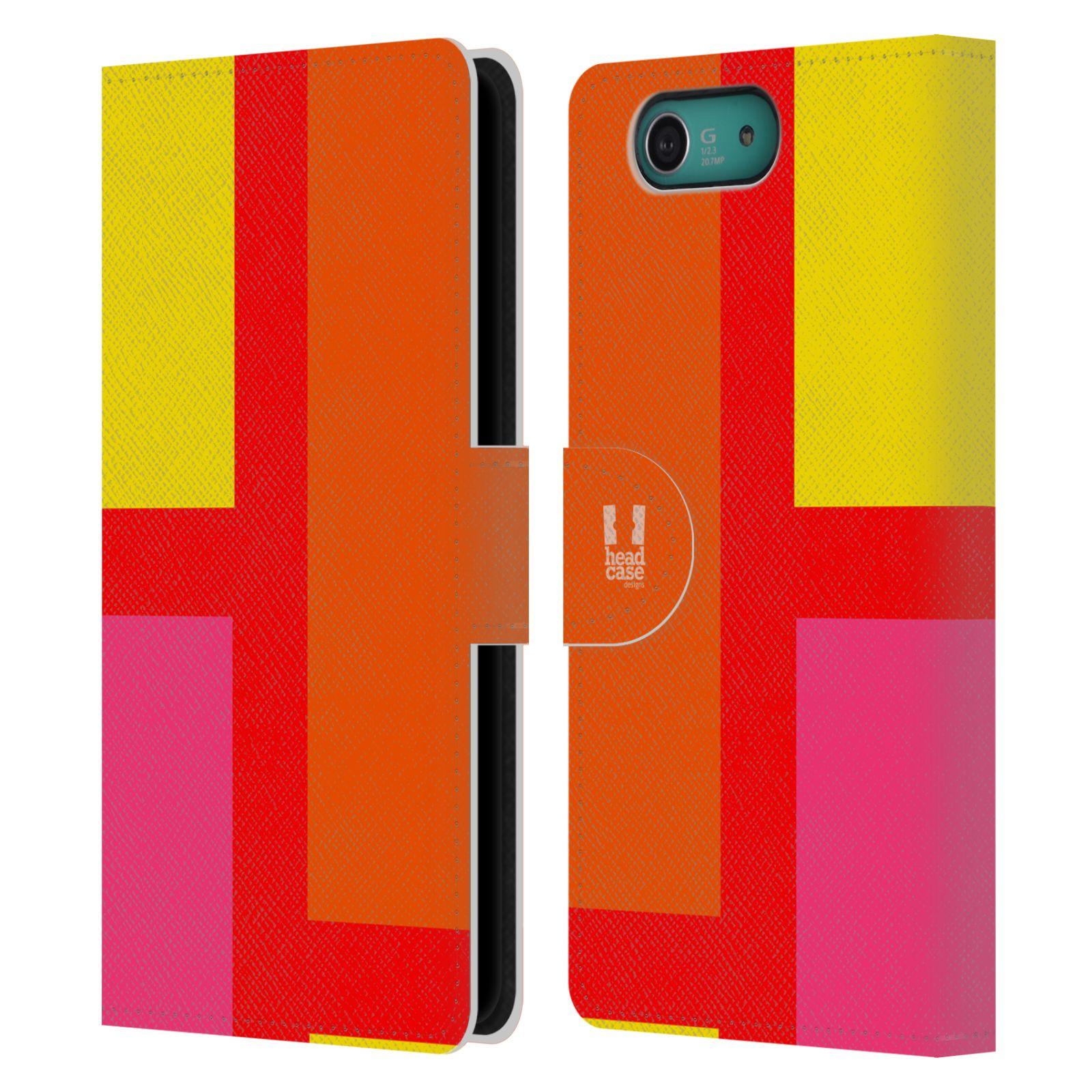 HEAD CASE Flipové pouzdro pro mobil SONY XPERIA Z3 COMPACT barevné tvary oranžová ulice
