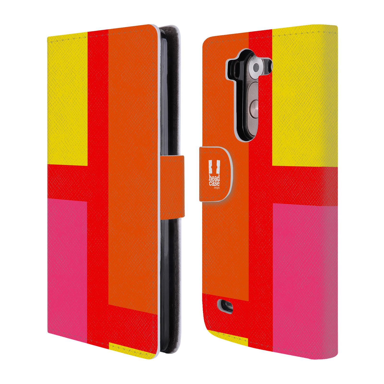 HEAD CASE Flipové pouzdro pro mobil LG G3s barevné tvary oranžová ulice