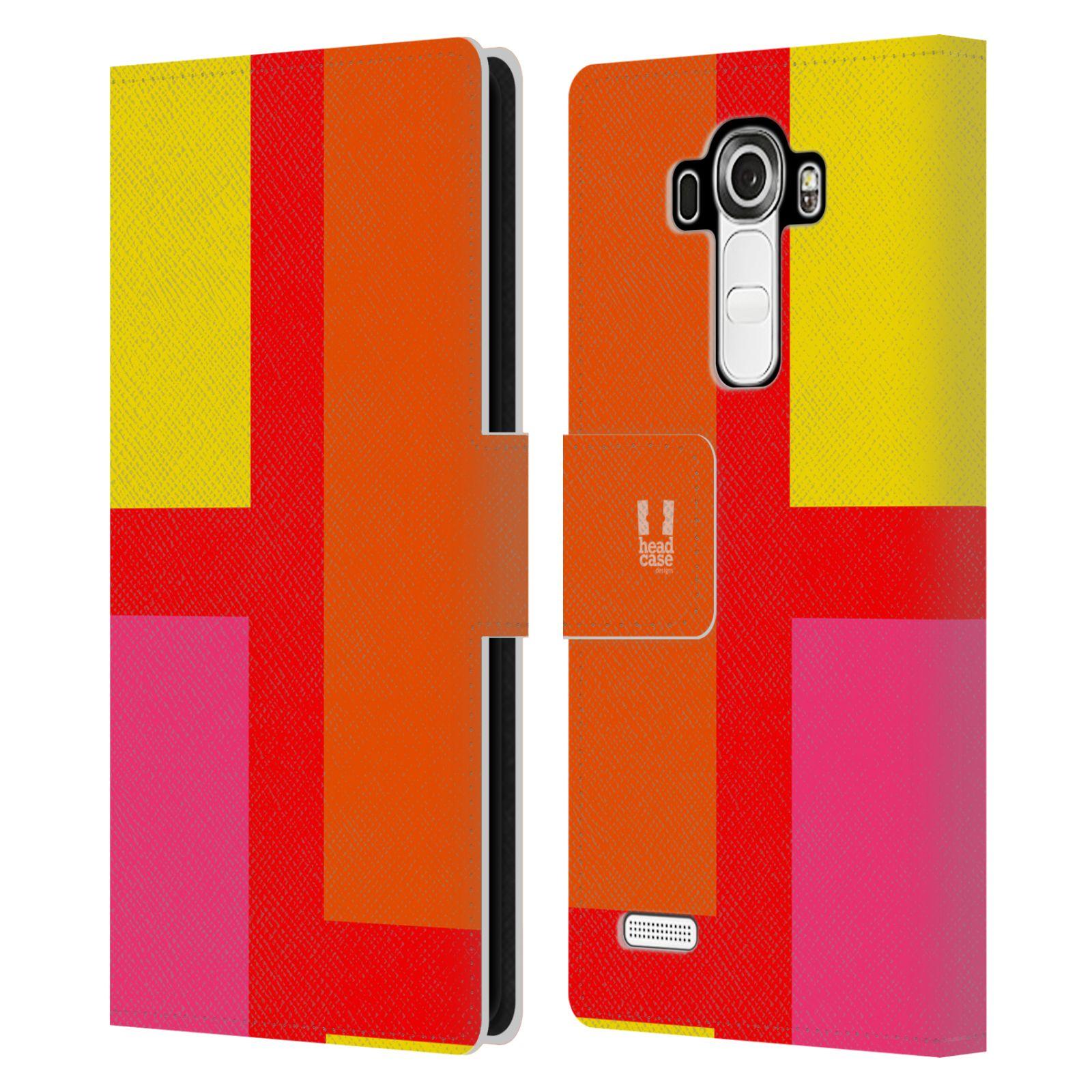 HEAD CASE Flipové pouzdro pro mobil LG G4 barevné tvary oranžová ulice