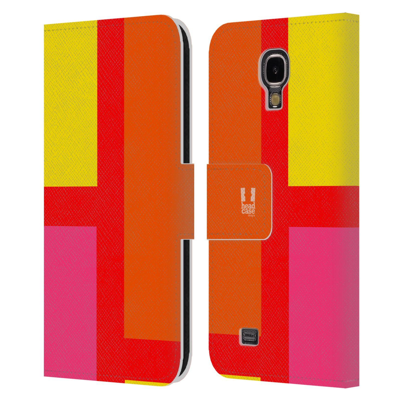 HEAD CASE Flipové pouzdro pro mobil Samsung Galaxy S4 I9500 barevné tvary oranžová ulice
