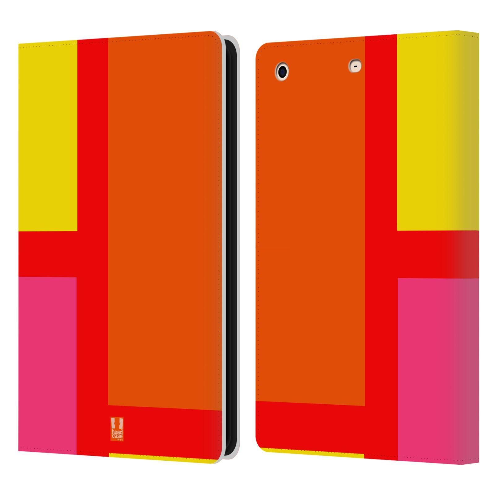 HEAD CASE Flipové pouzdro pro tablet Apple iPad mini barevné tvary oranžová ulice