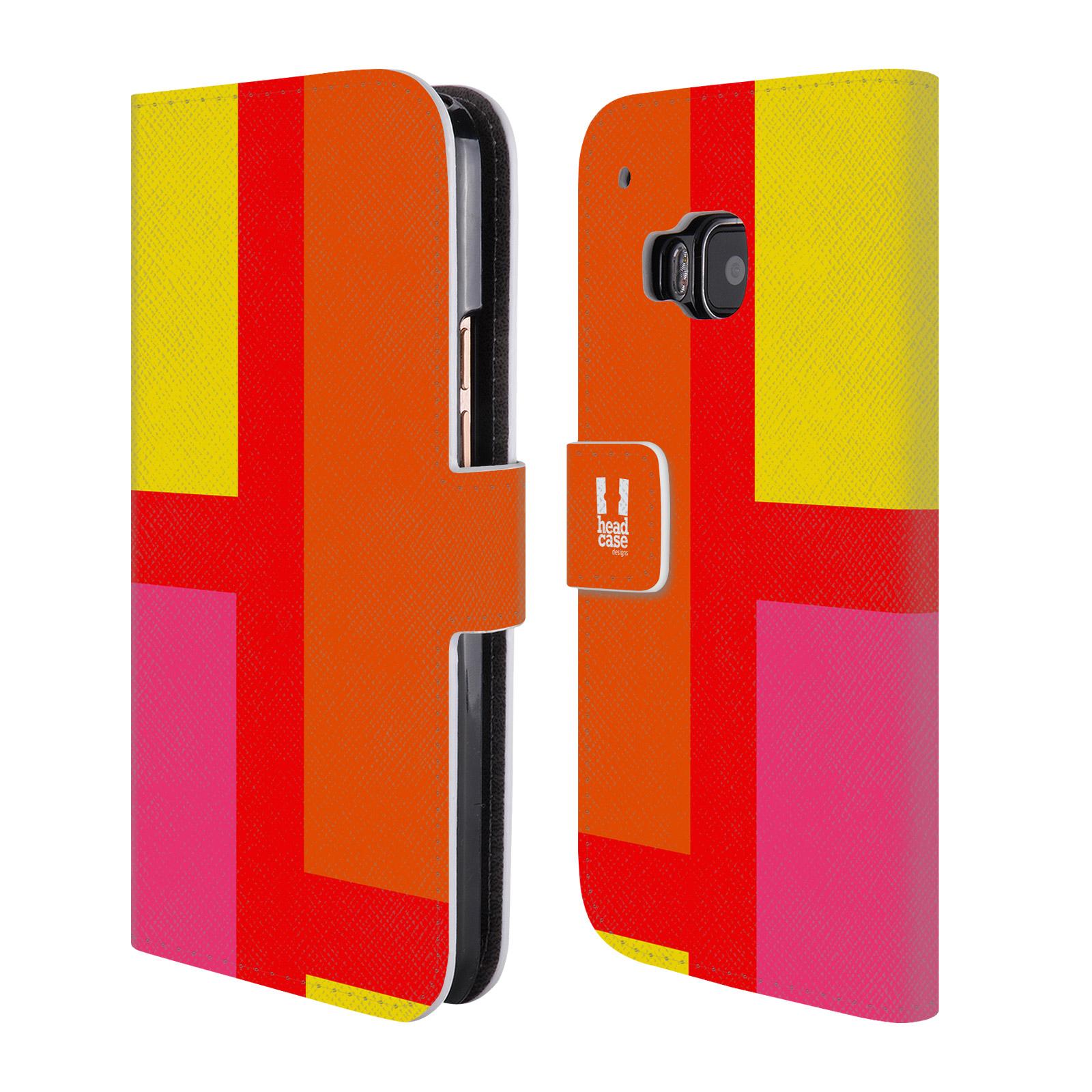 HEAD CASE Flipové pouzdro pro mobil HTC ONE M9 barevné tvary oranžová ulice