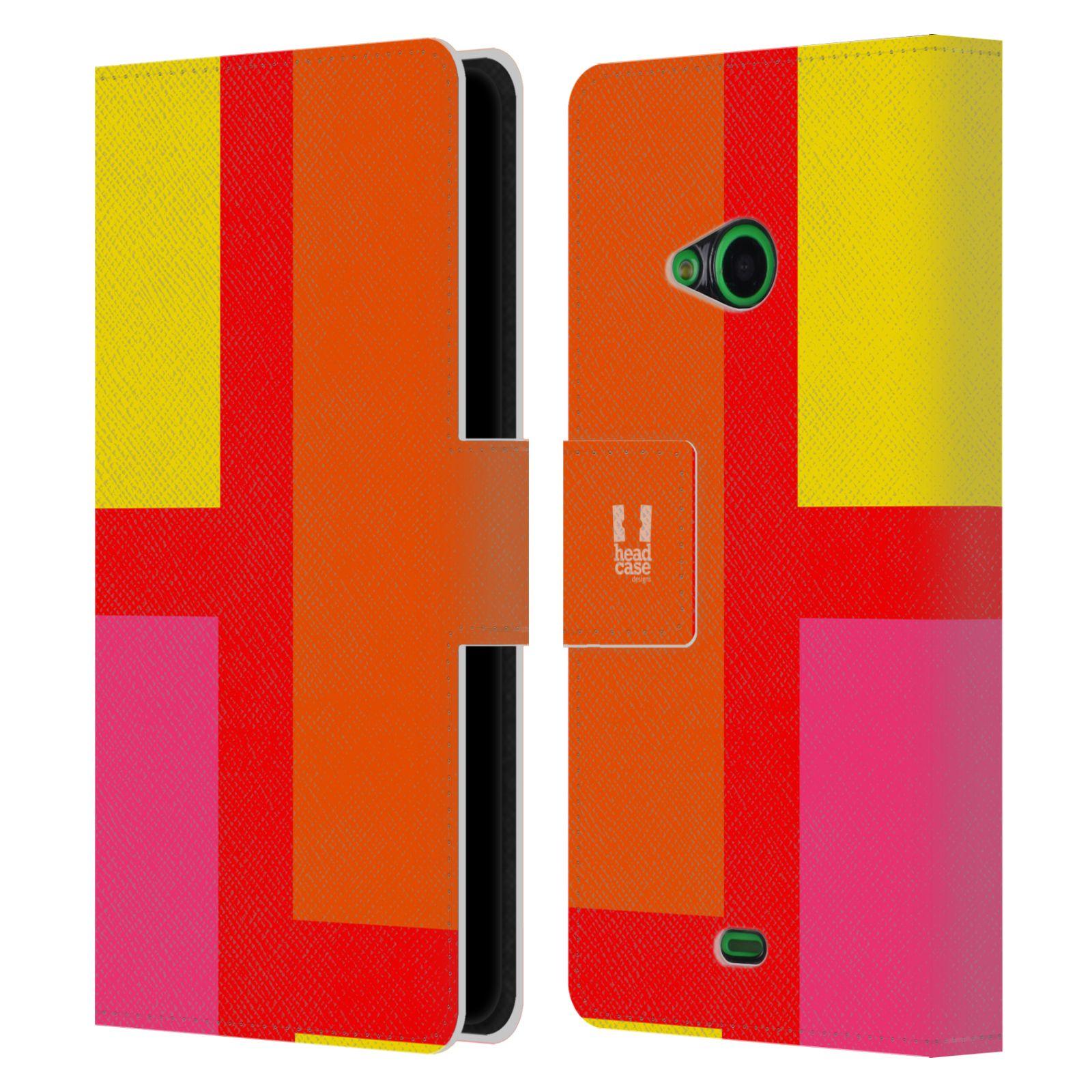 HEAD CASE Flipové pouzdro pro mobil Nokia LUMIA 535 barevné tvary oranžová ulice