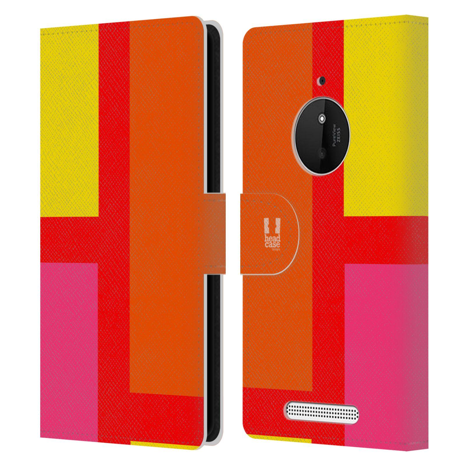 HEAD CASE Flipové pouzdro pro mobil Nokia LUMIA 830 barevné tvary oranžová ulice