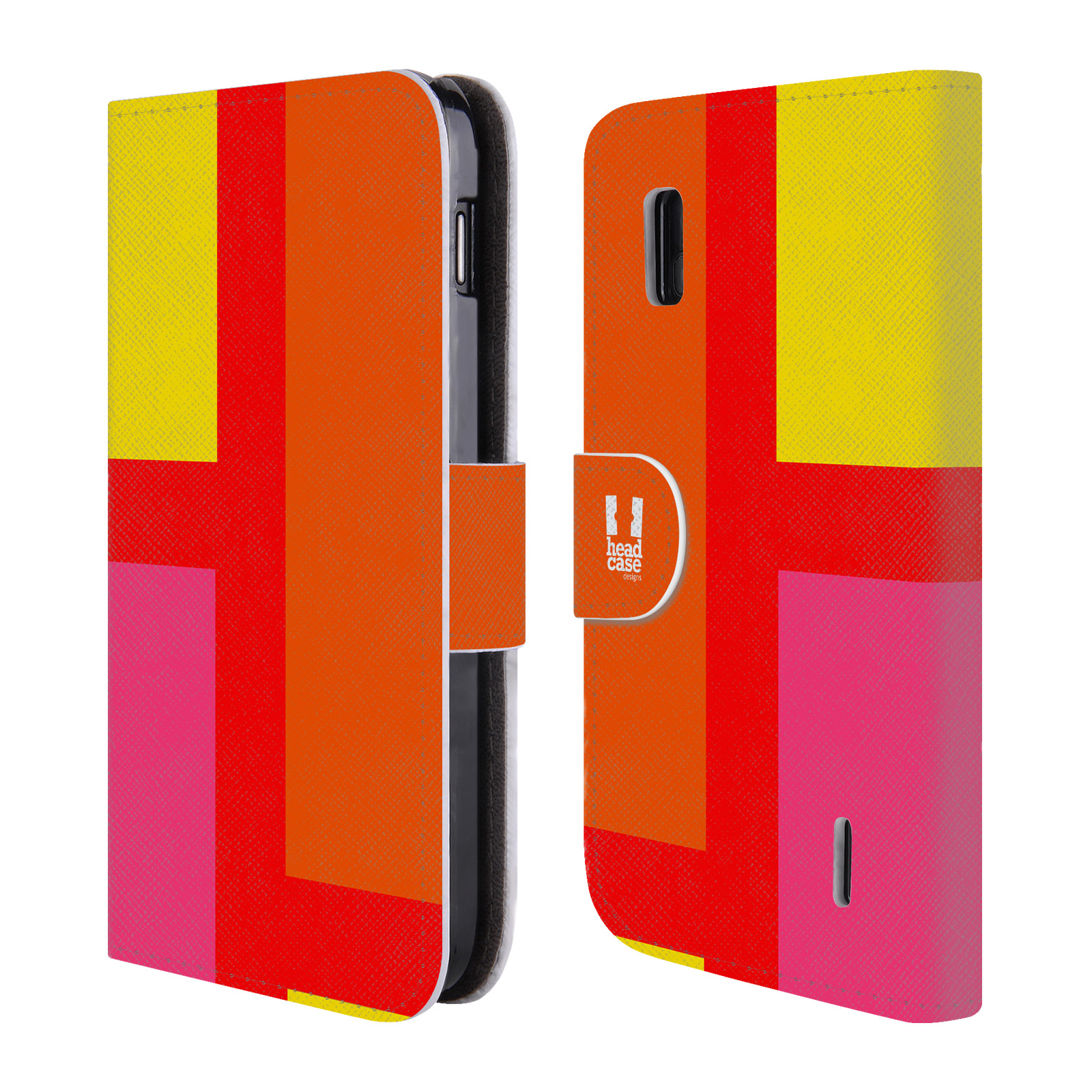HEAD CASE Flipové pouzdro pro mobil LG NEXUS 4 barevné tvary oranžová ulice