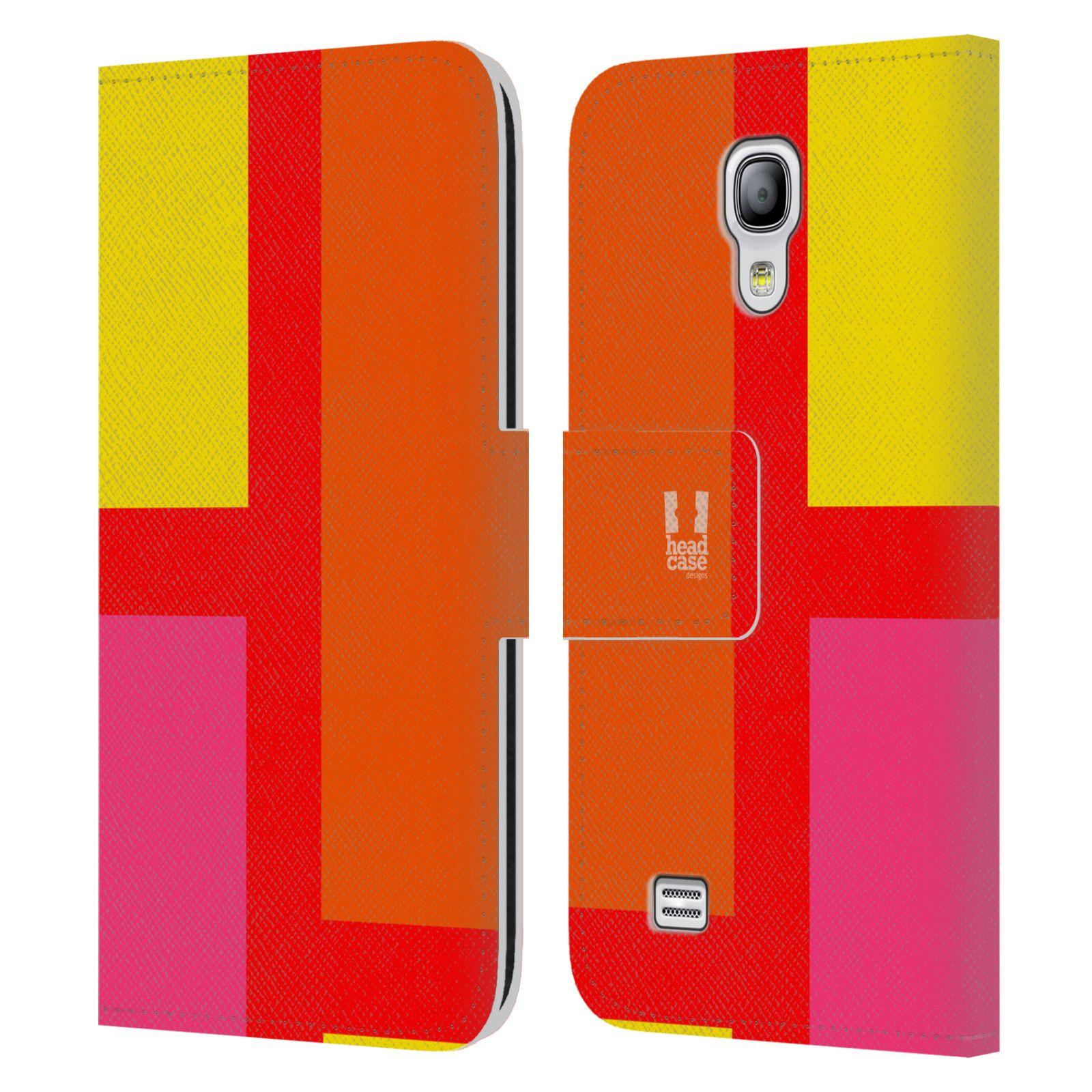 HEAD CASE Flipové pouzdro pro mobil Samsung Galaxy S4 MINI barevné tvary oranžová ulice