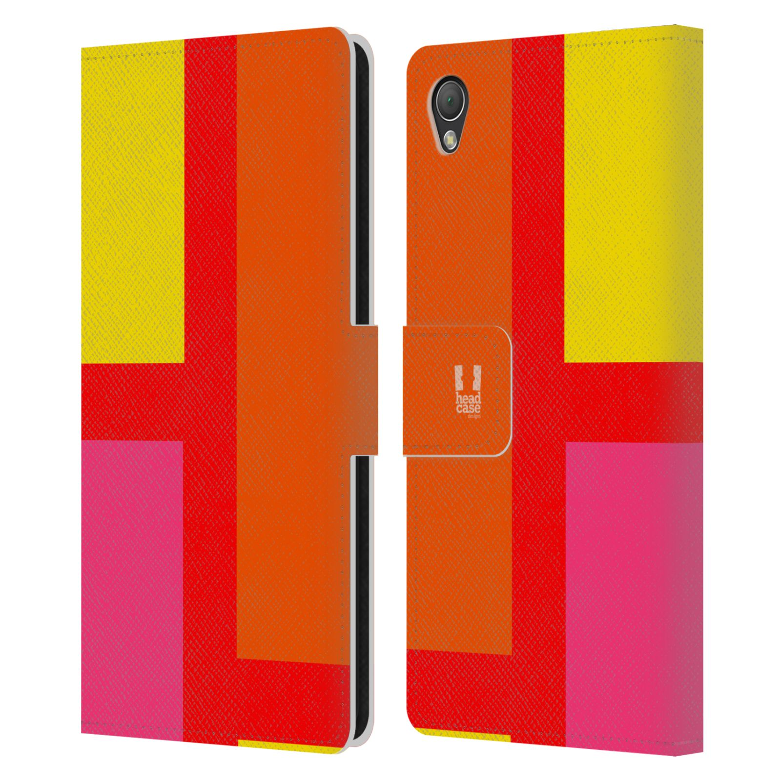 HEAD CASE Flipové pouzdro pro mobil SONY XPERIA Z3 barevné tvary oranžová ulice