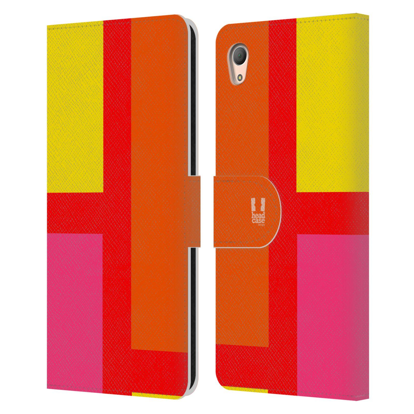 HEAD CASE Flipové pouzdro pro mobil SONY XPERIA Z3+(Z3 PLUS) barevné tvary oranžová ulice