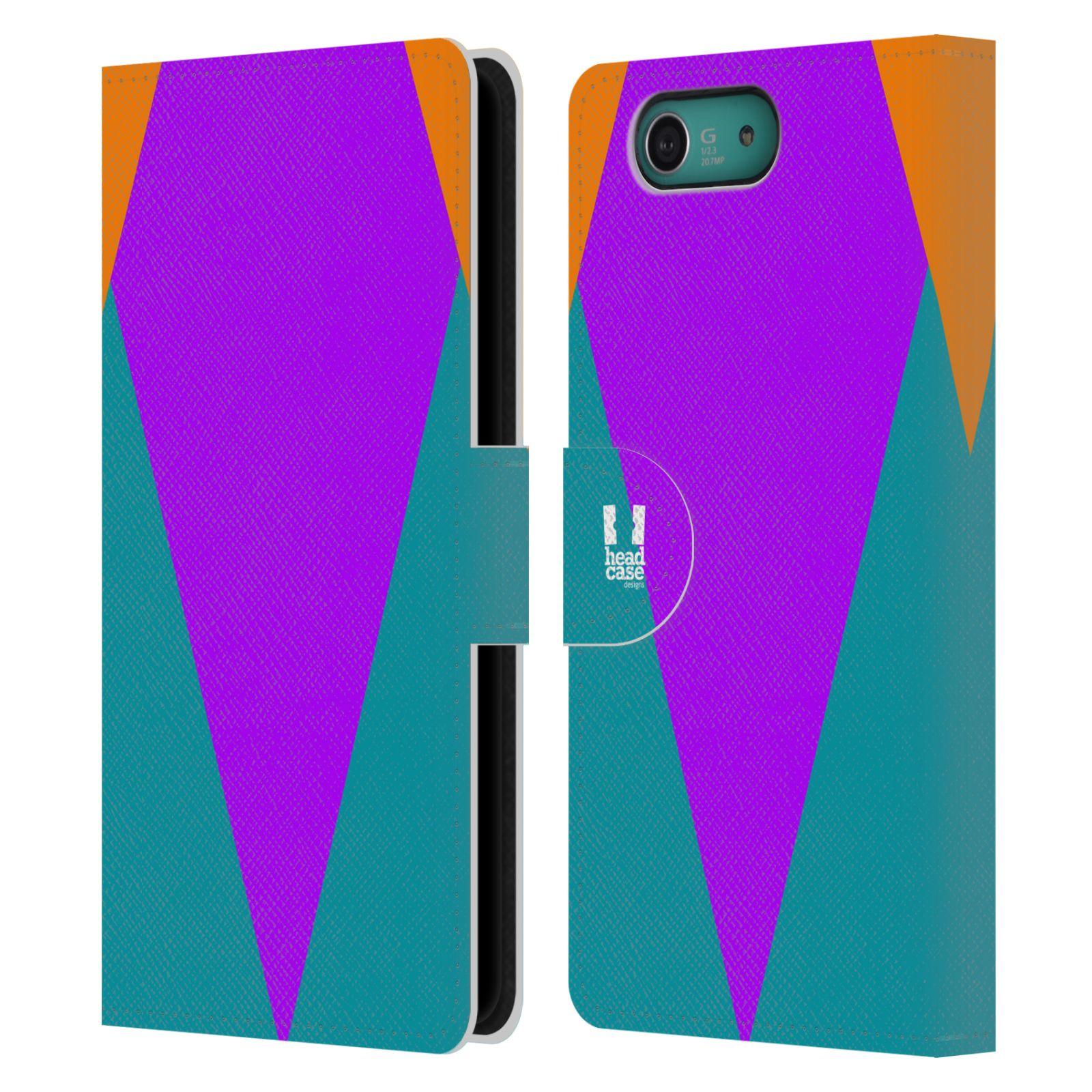 HEAD CASE Flipové pouzdro pro mobil SONY XPERIA Z3 COMPACT barevné tvary šipka fialová