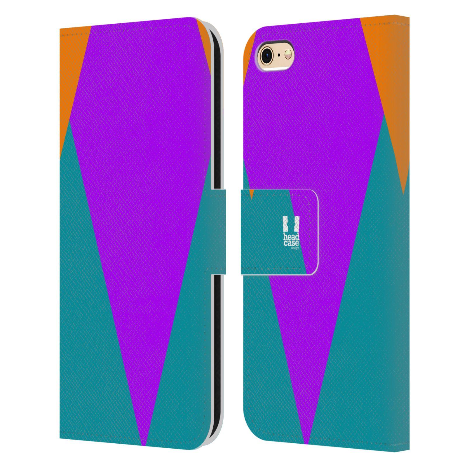HEAD CASE Flipové pouzdro pro mobil Apple Iphone 6/6s barevné tvary šipka fialová