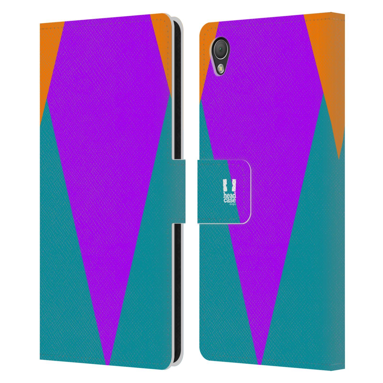 HEAD CASE Flipové pouzdro pro mobil SONY XPERIA Z3 barevné tvary šipka fialová