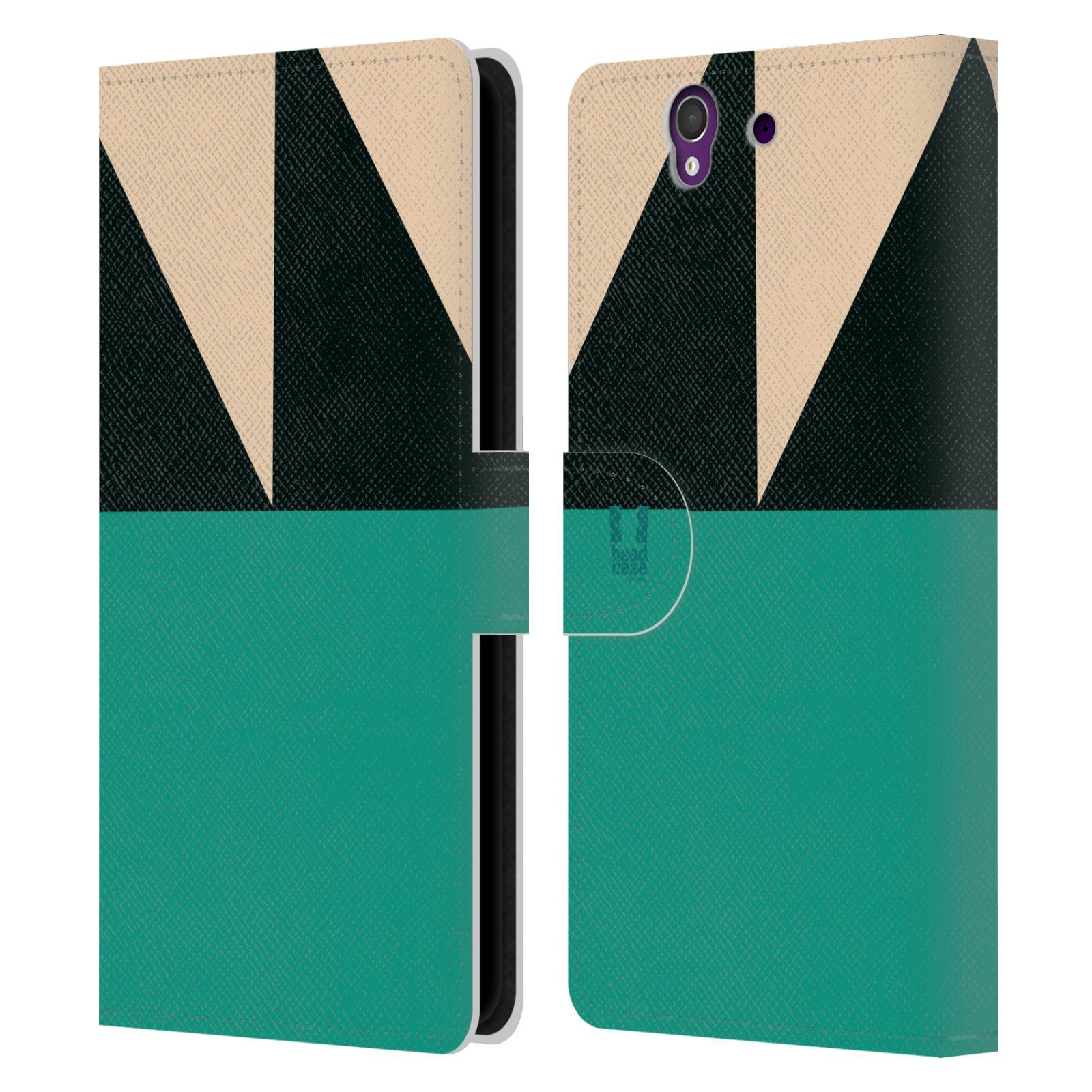 HEAD CASE Flipové pouzdro pro mobil SONY Xperia Z barevné tvary moře modrá
