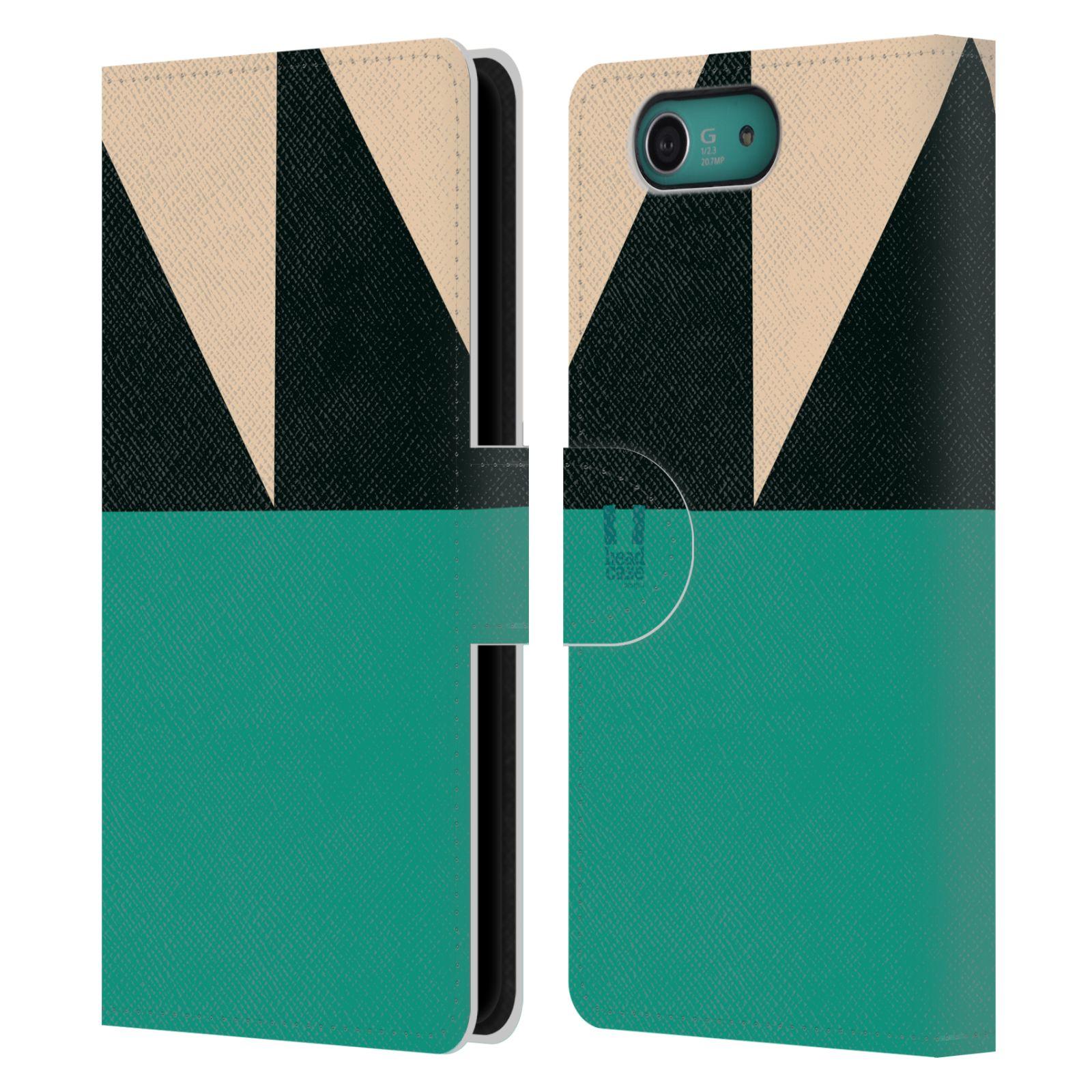 HEAD CASE Flipové pouzdro pro mobil SONY XPERIA Z3 COMPACT barevné tvary moře modrá