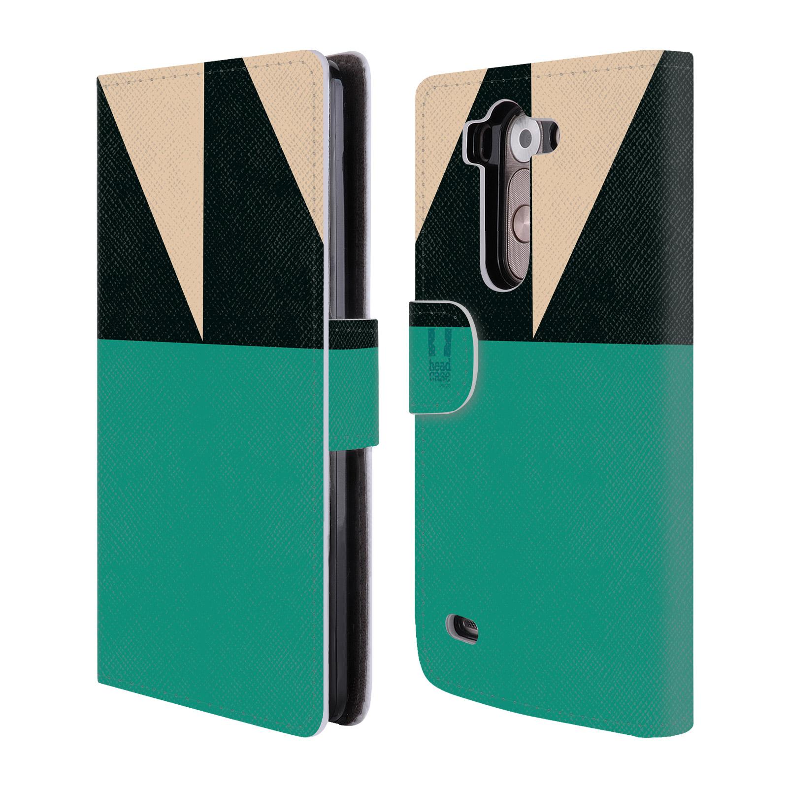 HEAD CASE Flipové pouzdro pro mobil LG G3s barevné tvary moře modrá
