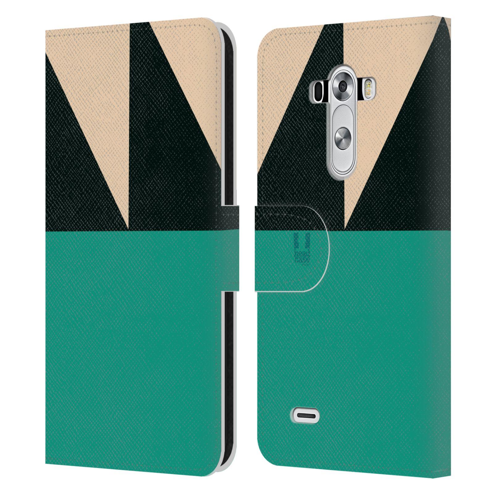 HEAD CASE Flipové pouzdro pro mobil LG G3 barevné tvary moře modrá