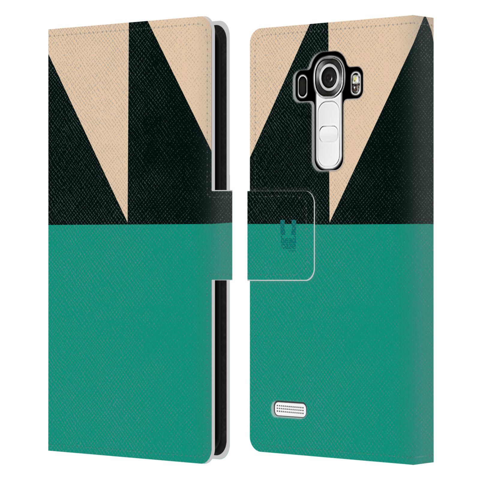 HEAD CASE Flipové pouzdro pro mobil LG G4 barevné tvary moře modrá