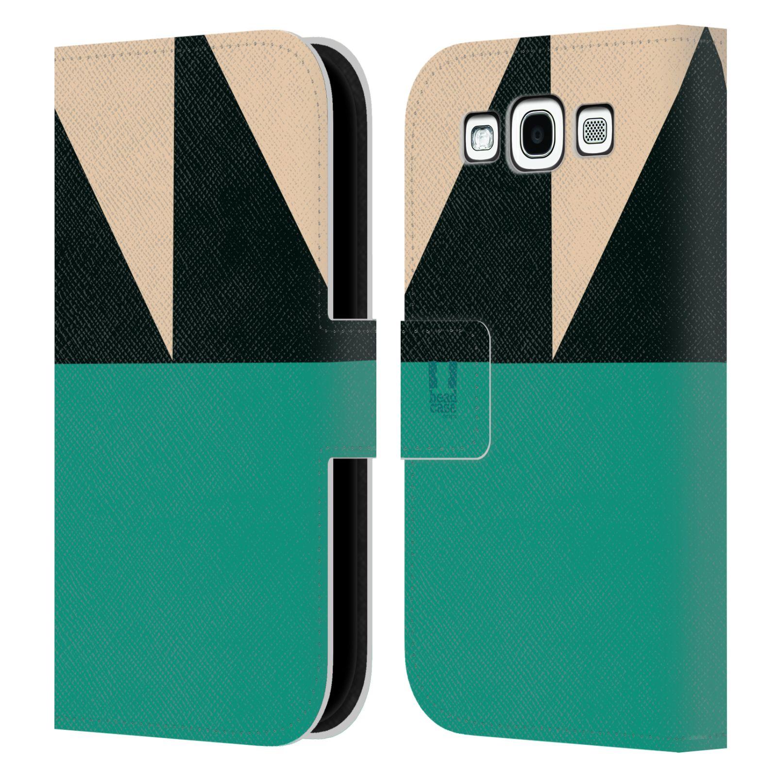 HEAD CASE Flipové pouzdro pro mobil Samsung Galaxy S3 I9300 barevné tvary moře modrá