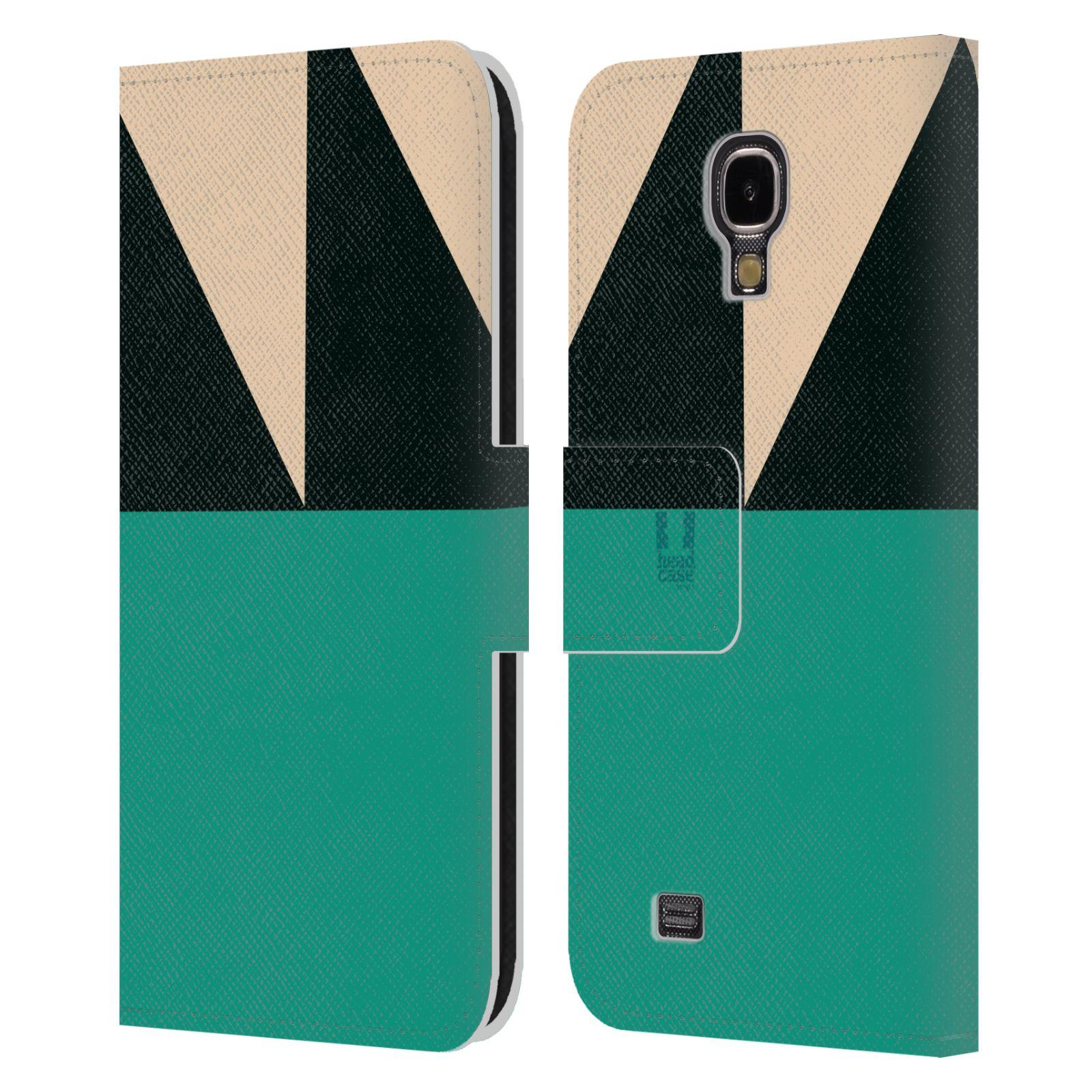 HEAD CASE Flipové pouzdro pro mobil Samsung Galaxy S4 I9500 barevné tvary moře modrá