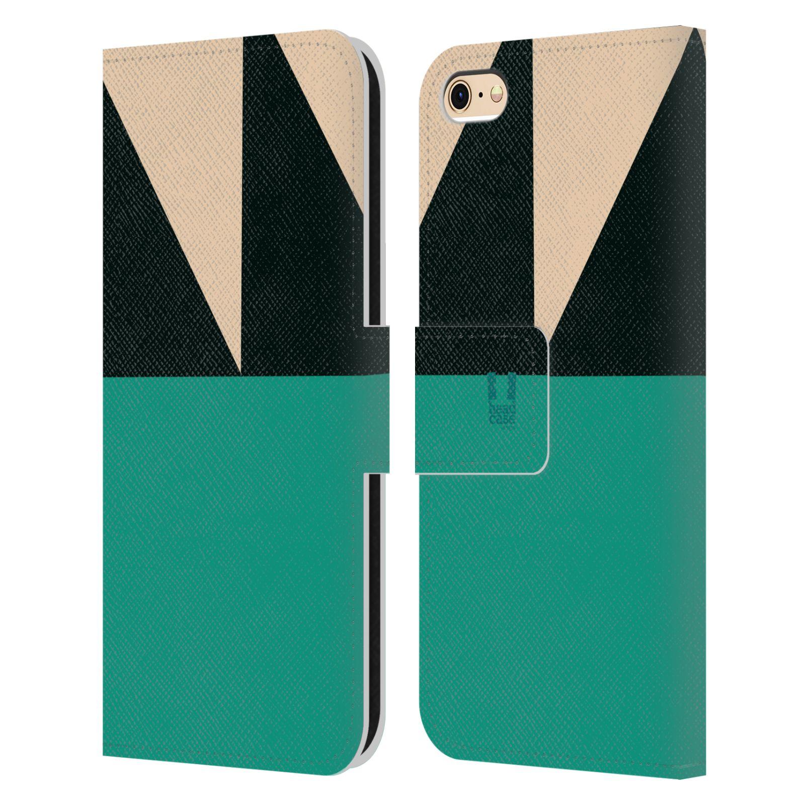 HEAD CASE Flipové pouzdro pro mobil Apple Iphone 6/6s barevné tvary moře modrá