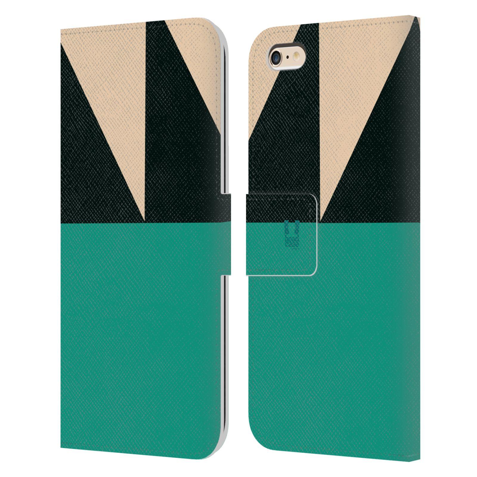 HEAD CASE Flipové pouzdro pro mobil Apple Iphone 6 PLUS/6S PLUS barevné tvary moře modrá