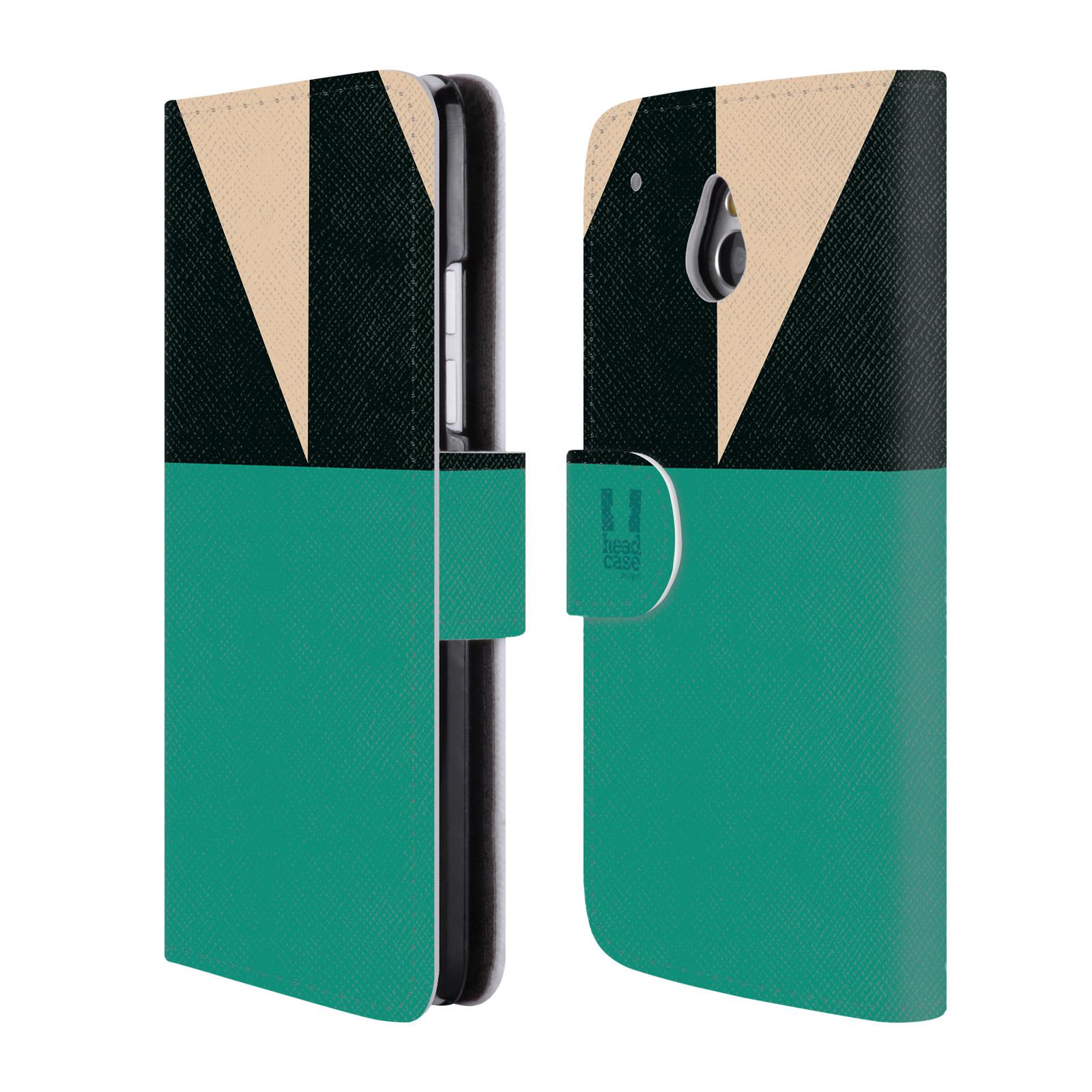 HEAD CASE Flipové pouzdro pro mobil HTC ONE MINI barevné tvary moře modrá